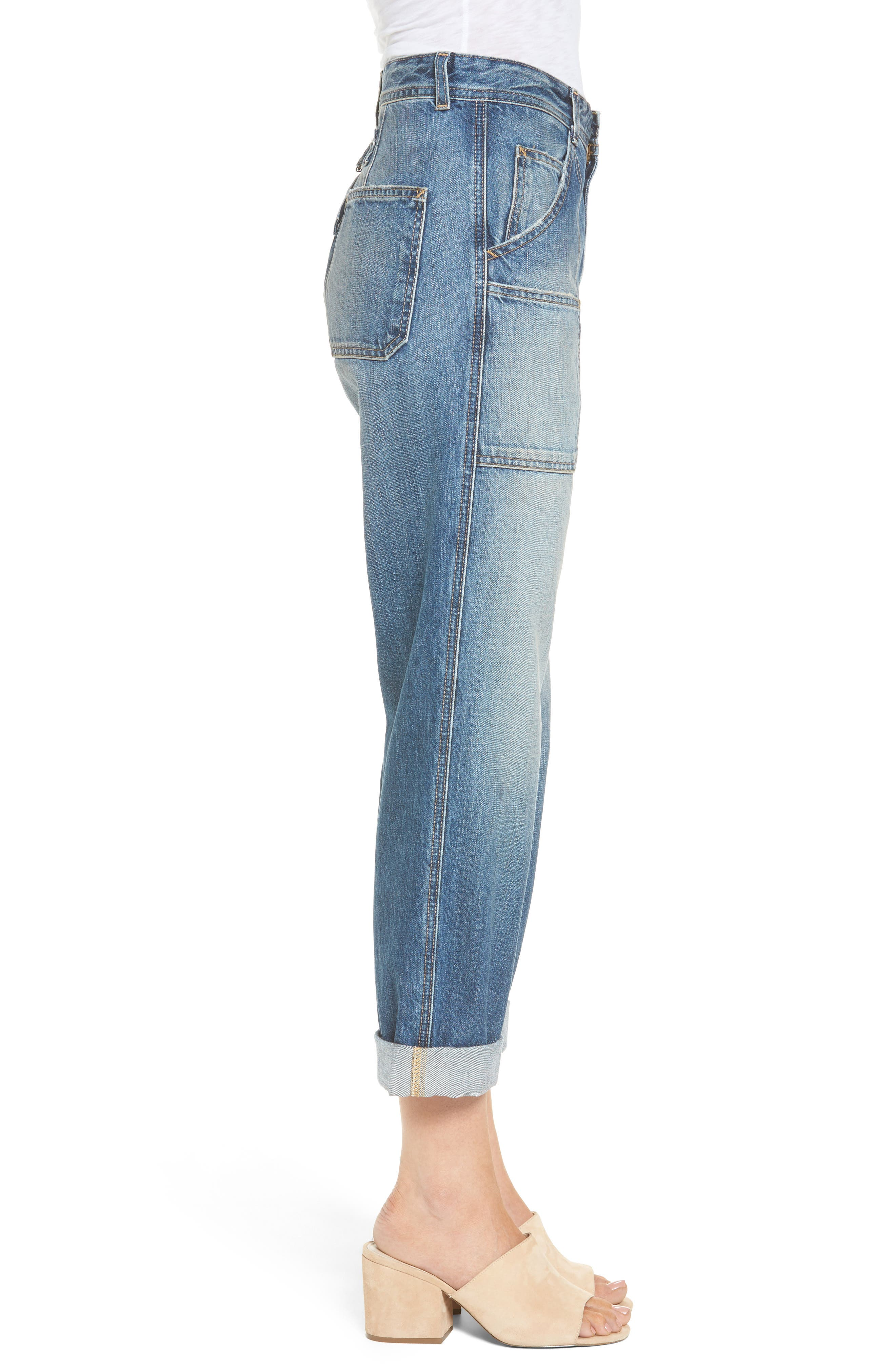 Cody Rolled Hem Jeans,                             Alternate thumbnail 3, color,