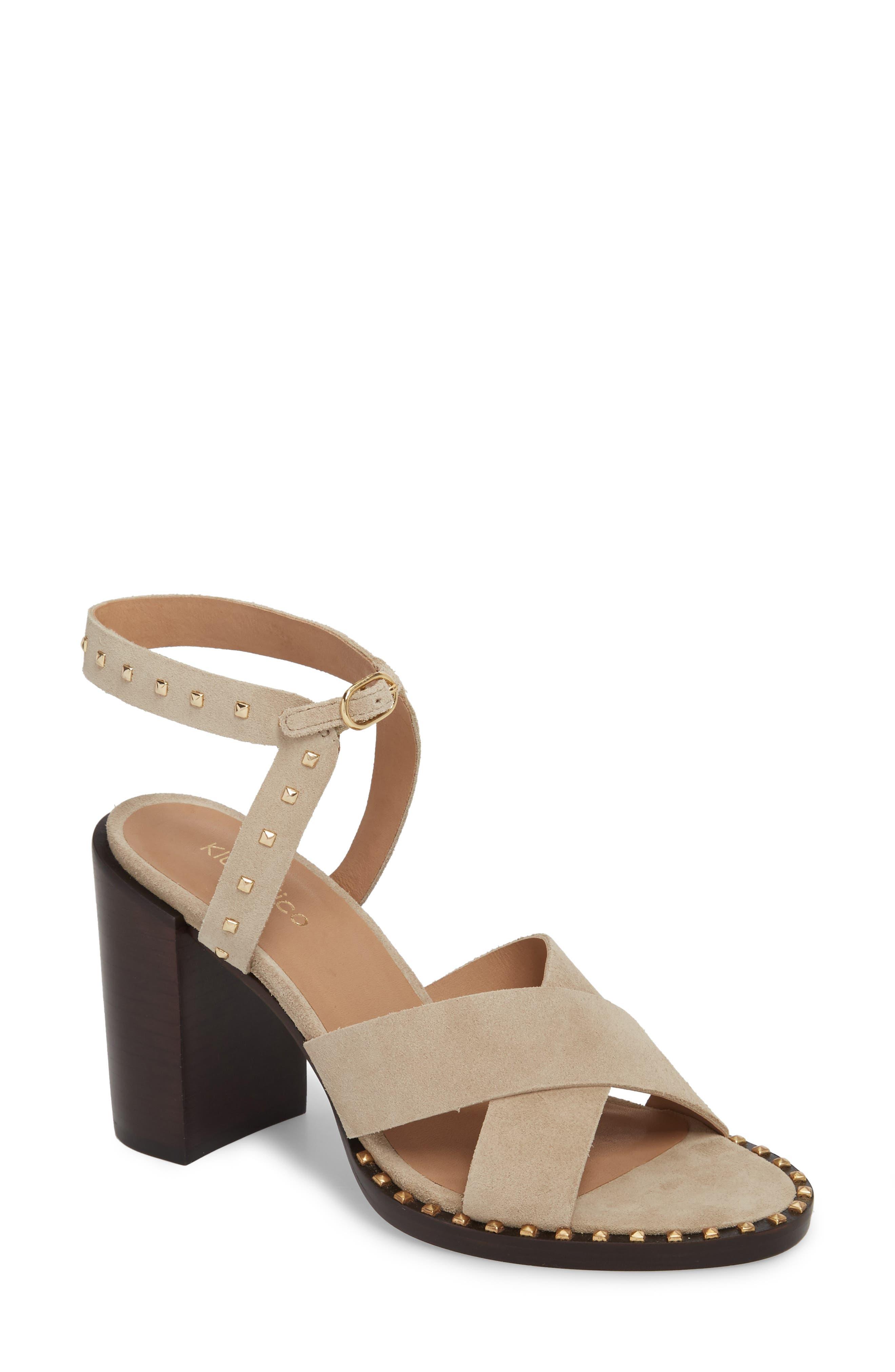 Tabia Sandal,                         Main,                         color, LINEN SUEDE
