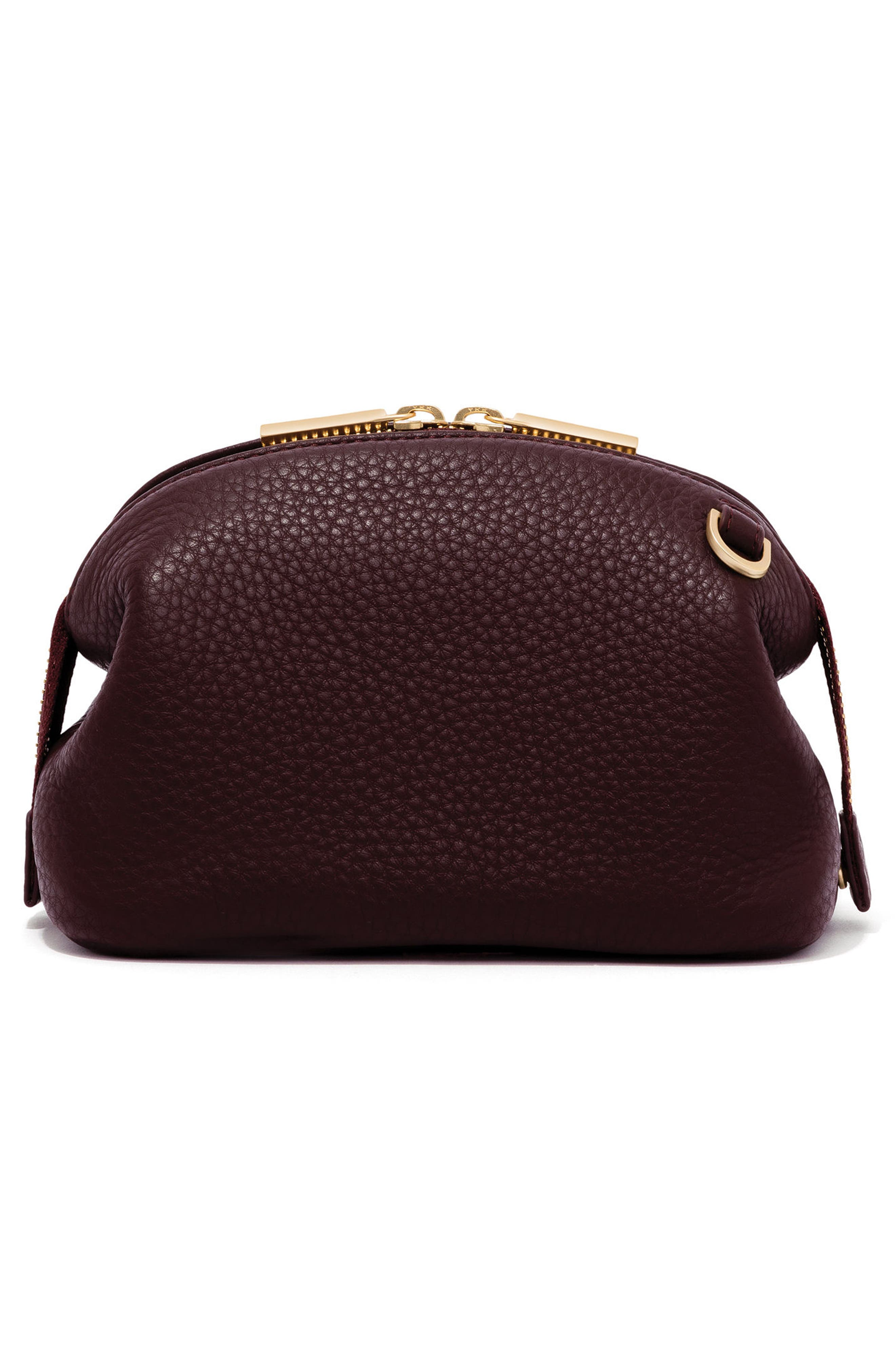 Small Lola Leather Cosmetics Pouch,                             Alternate thumbnail 4, color,