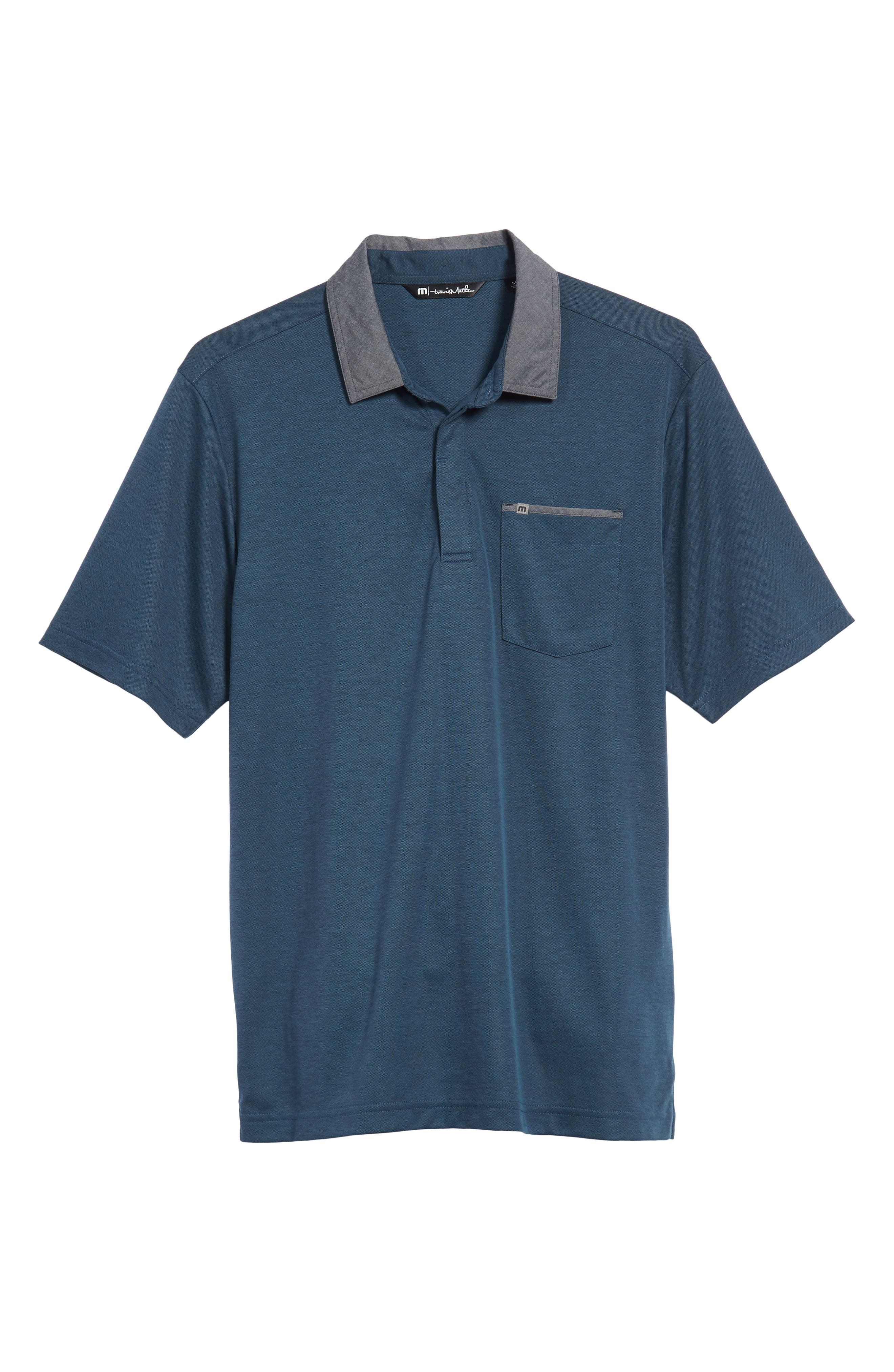 Change the Game Regular Fit Polo,                             Alternate thumbnail 6, color,                             BLUE WING TEAL/ BLACK