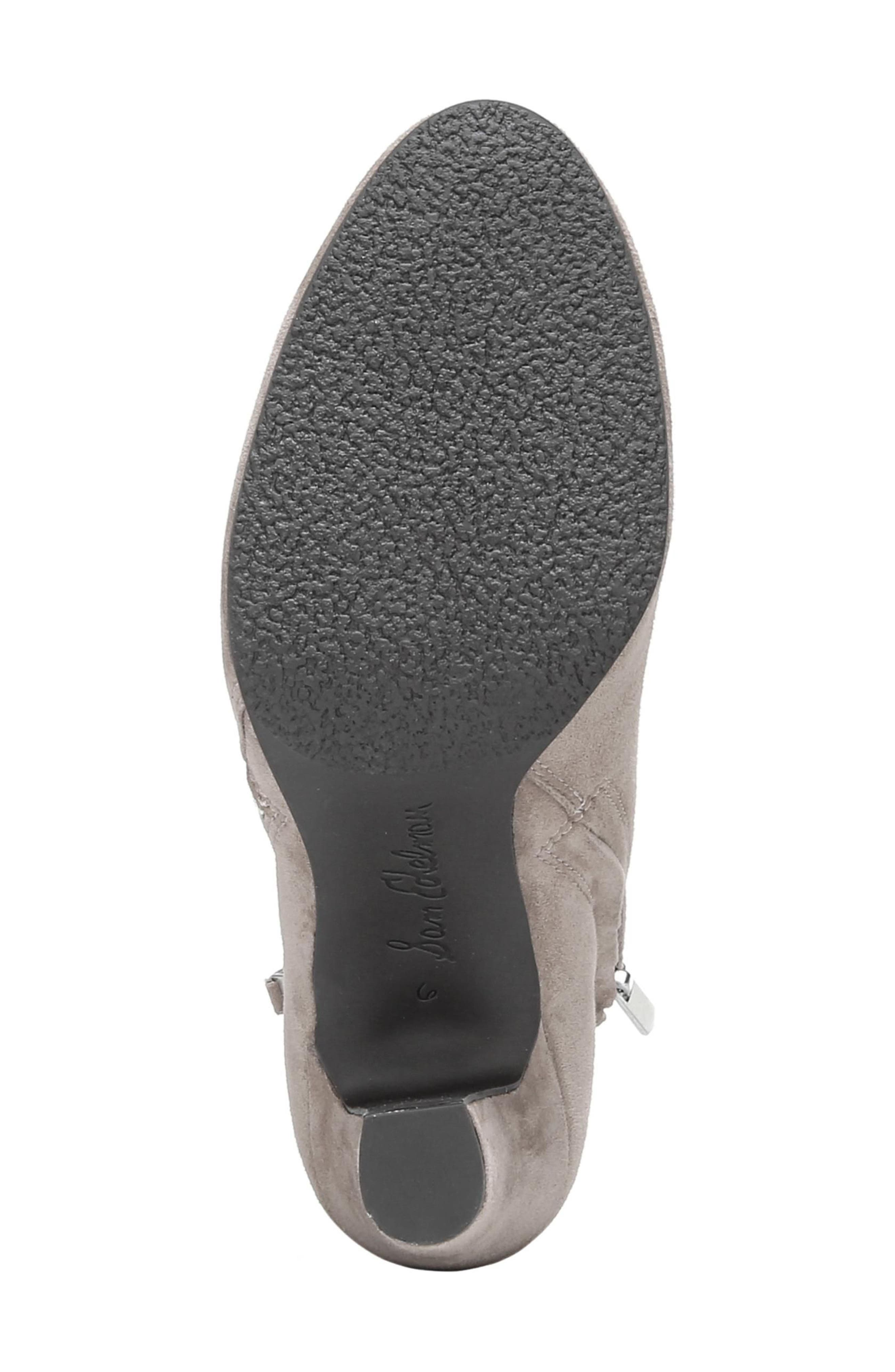 Sadee Angle Zip Bootie,                             Alternate thumbnail 6, color,                             NEW PUTTY SUEDE