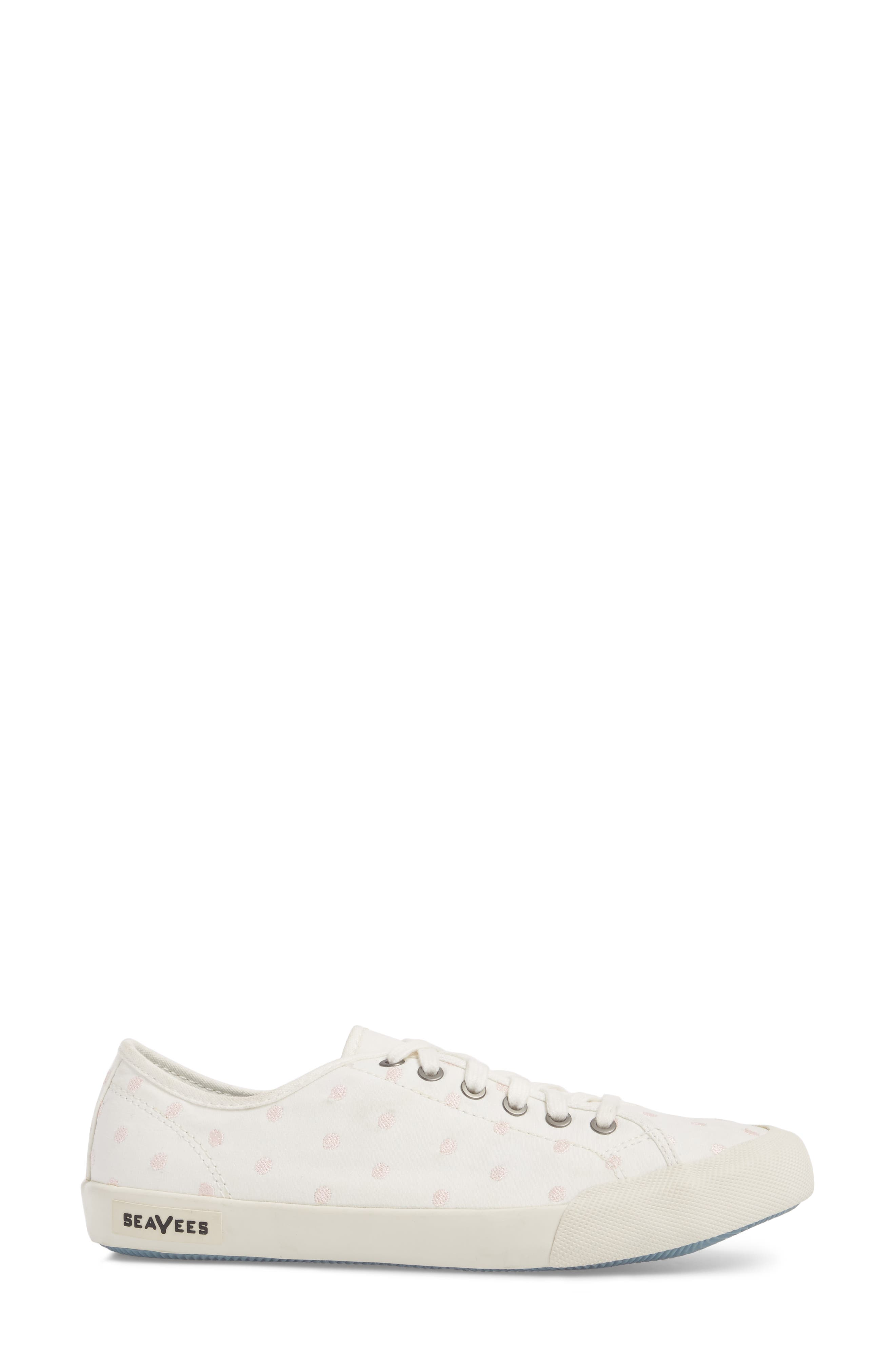 Monterey Embroidered Low Top Sneaker,                             Alternate thumbnail 3, color,                             PEARL