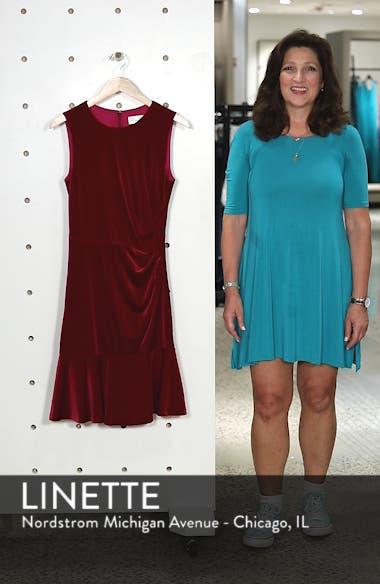 Draped Velvet Sheath Dress, sales video thumbnail