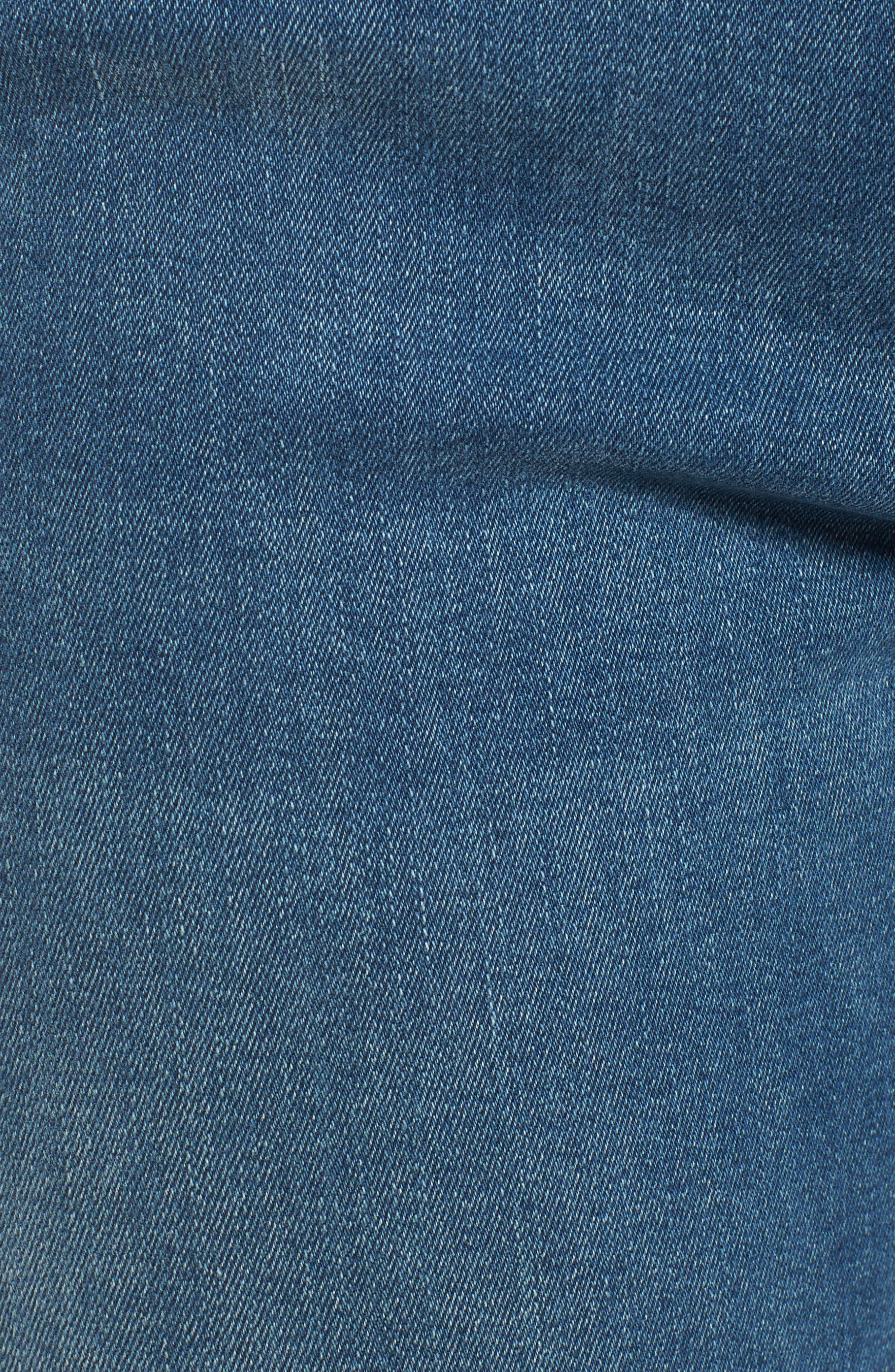 Kendra High Waist Straight Leg Jeans,                             Alternate thumbnail 5, color,                             420