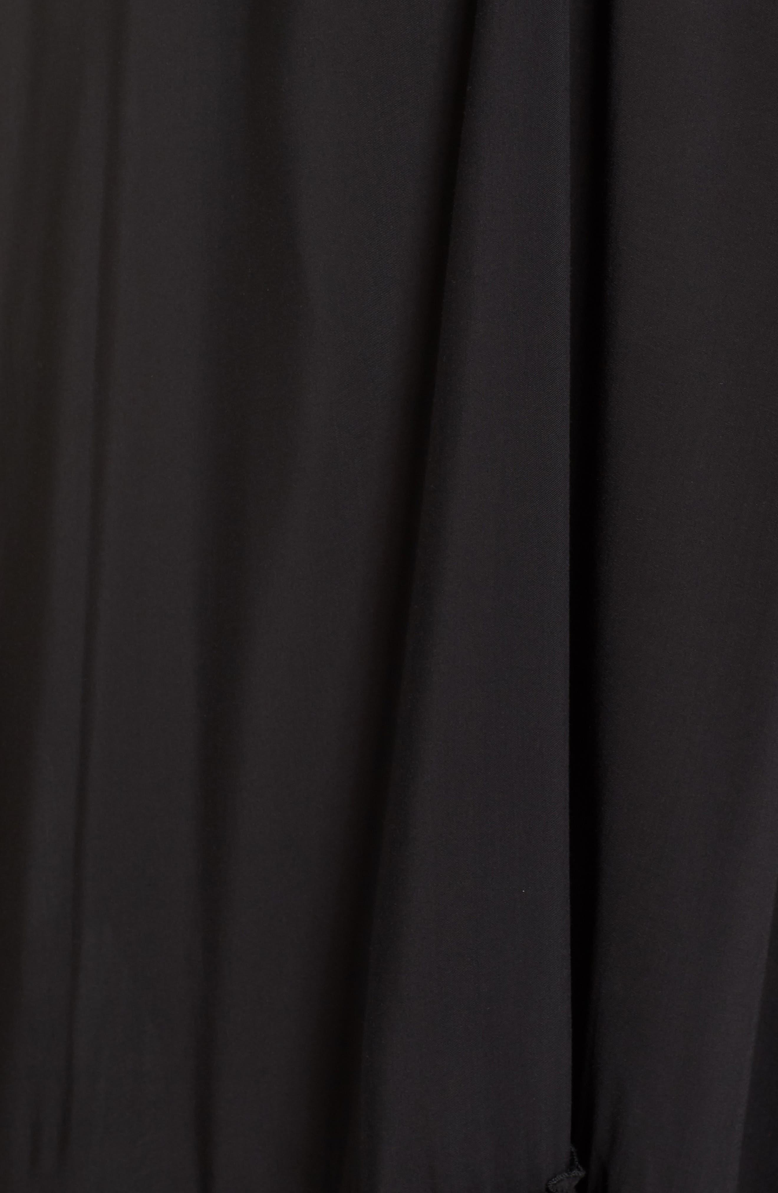 Maxi Cover-Up Dress,                             Alternate thumbnail 5, color,                             BLACK