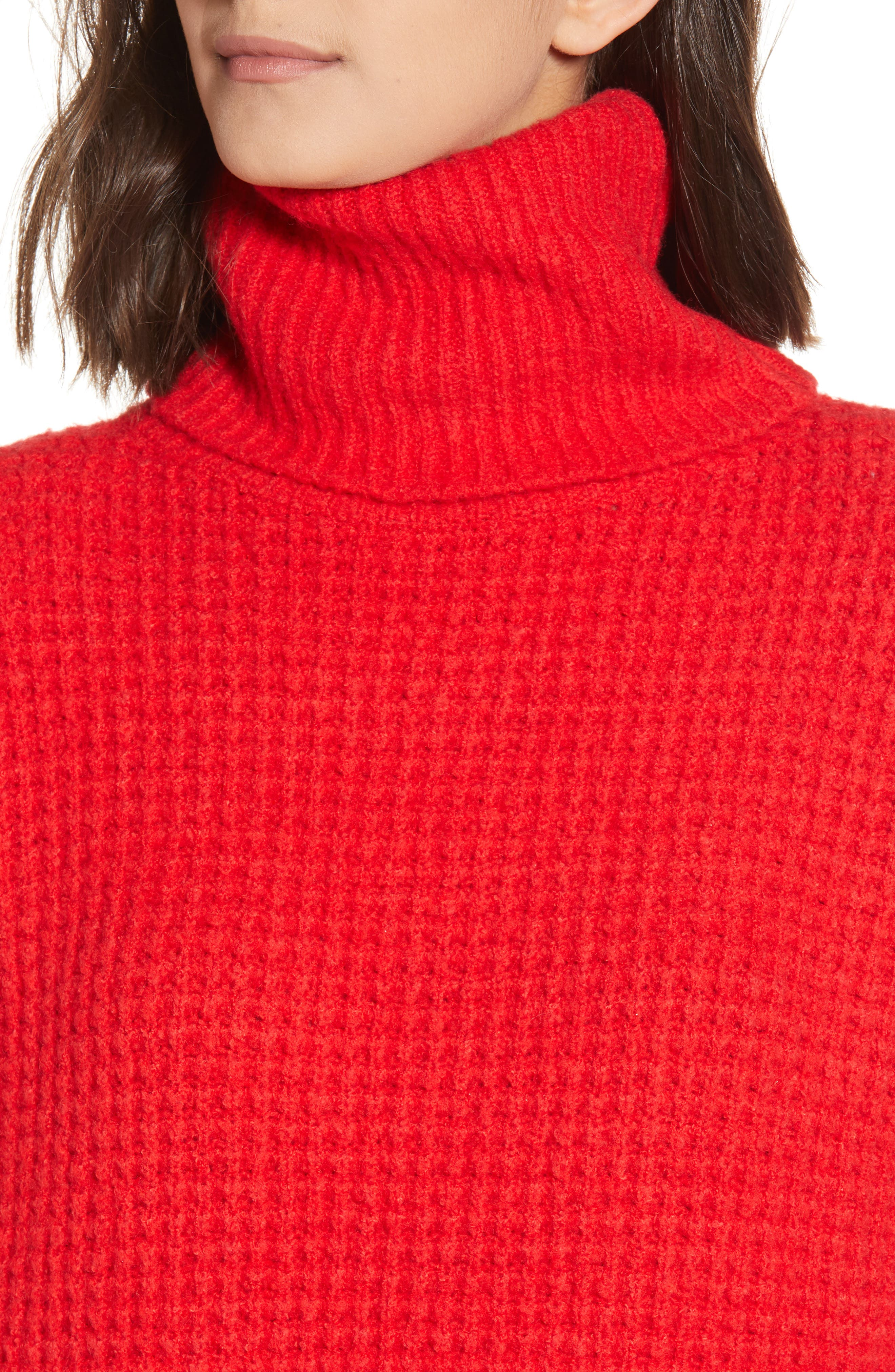 Holly Red Sweater Dress,                             Alternate thumbnail 4, color,                             600