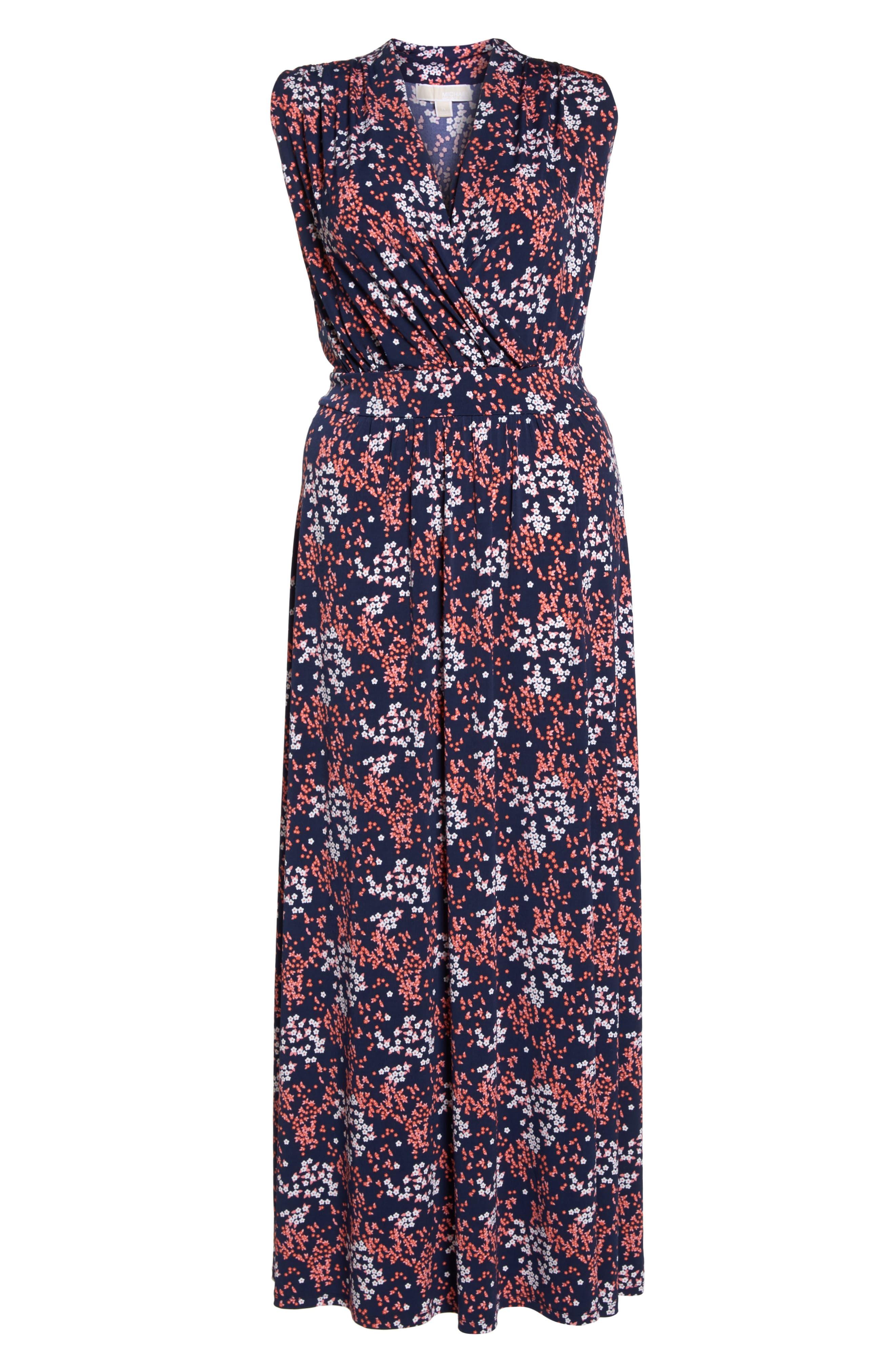Floral Print Maxi Dress,                             Alternate thumbnail 7, color,
