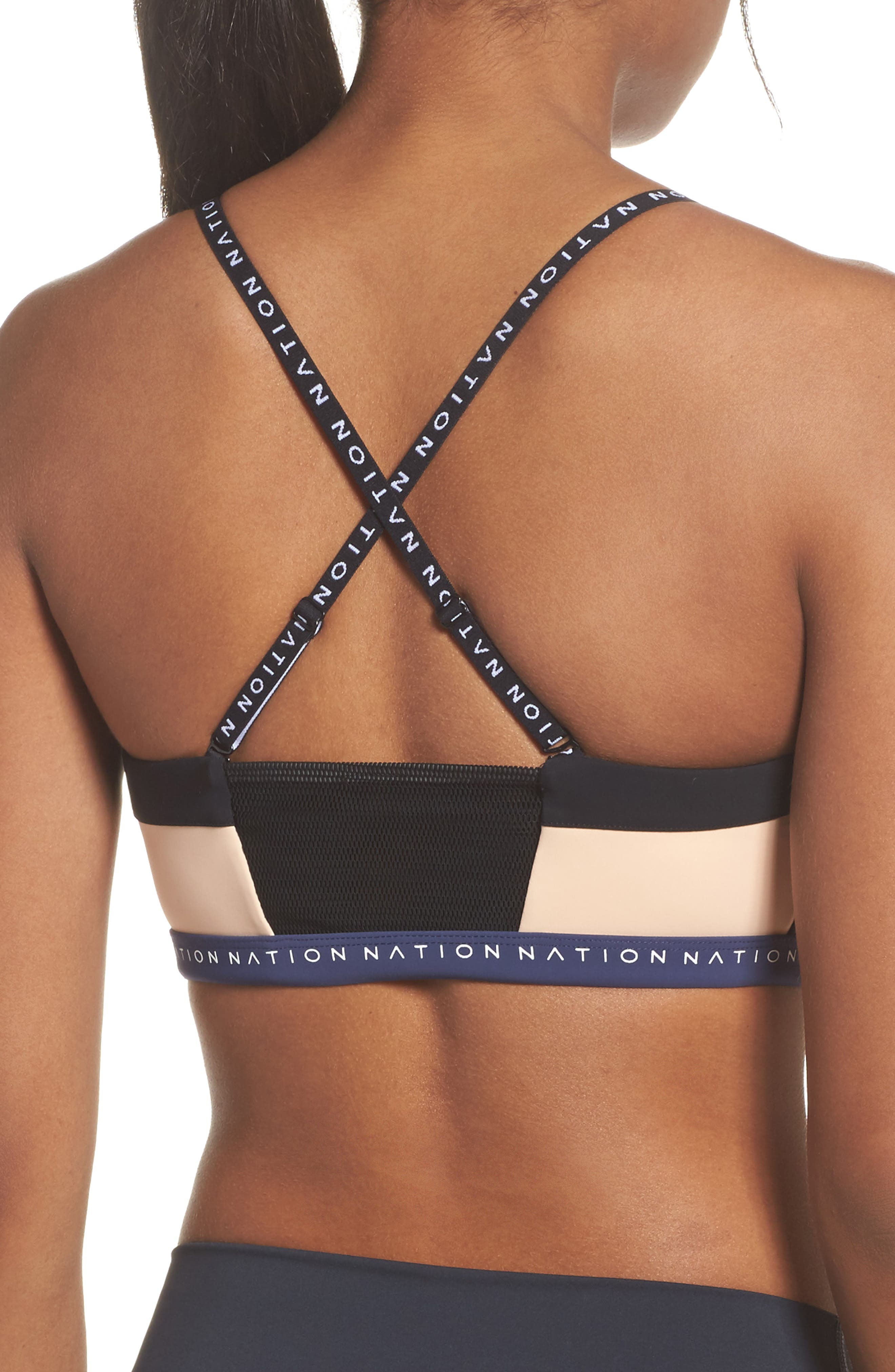 Field of Dreams Sports Bra,                             Alternate thumbnail 2, color,                             001