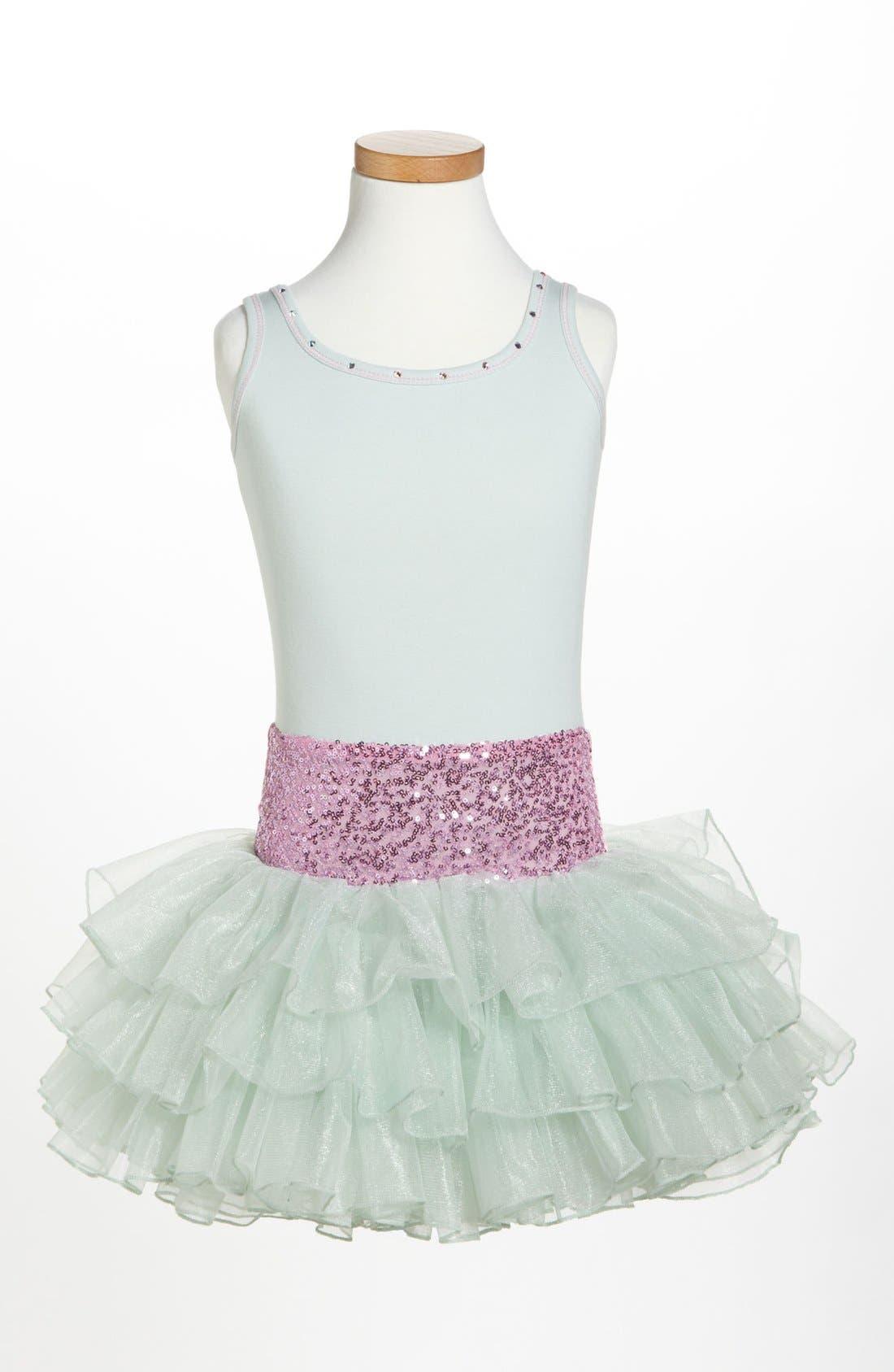 OOH! LA, LA! COUTURE Belted Sequin Dress, Main, color, 300