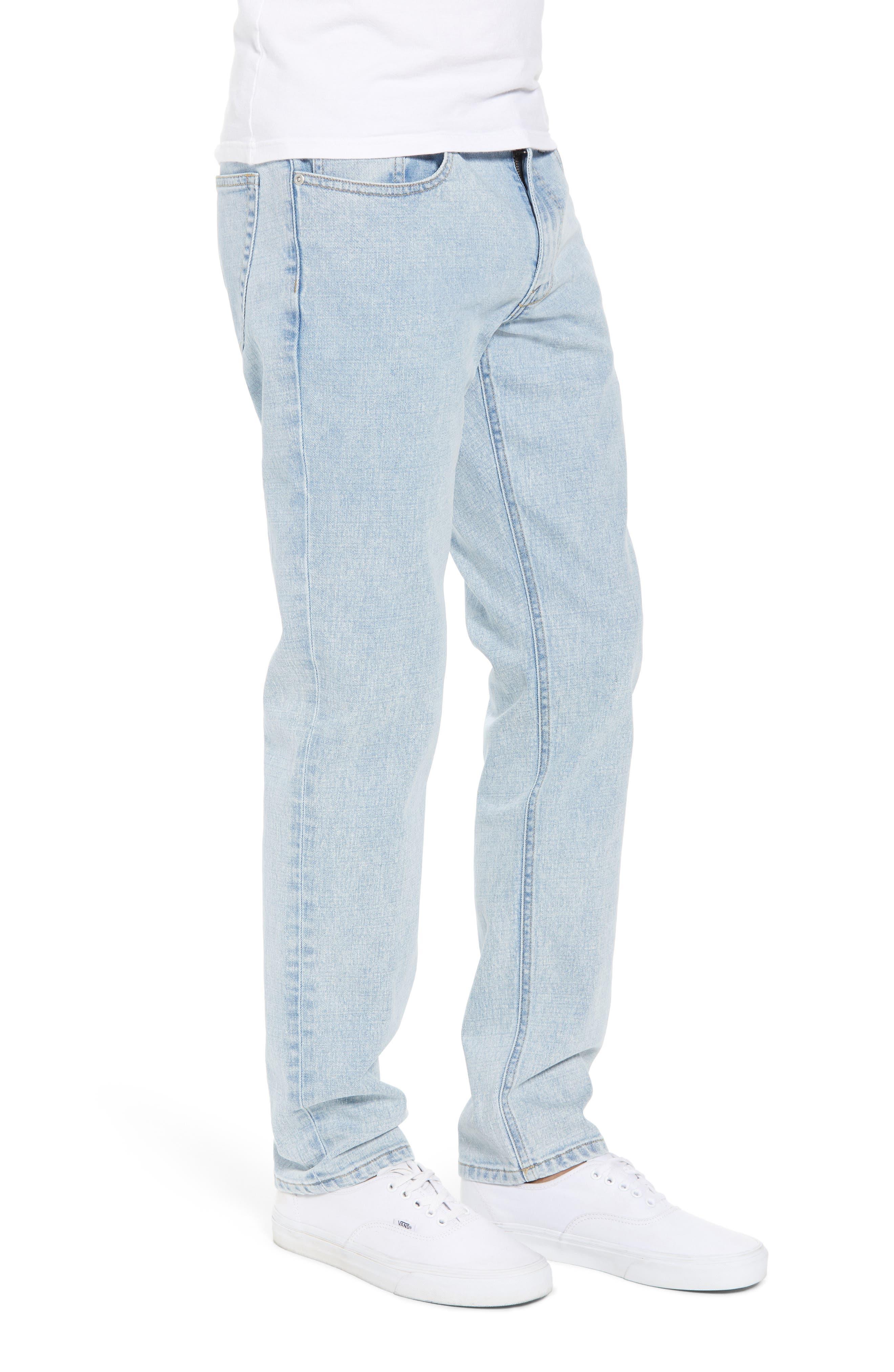 Acid Wash Stretch Slim Leg Jeans,                             Alternate thumbnail 3, color,                             BLUE VEDDER WASH