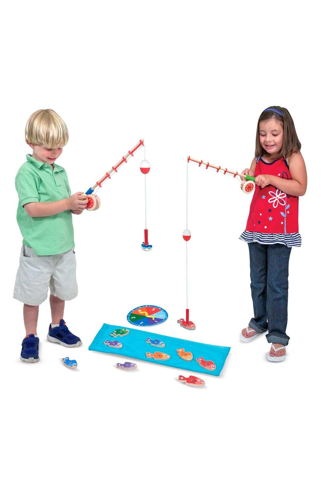 MELISSA & DOUG,                             'Catch & Count' Fishing Game,                             Alternate thumbnail 2, color,                             BLUE MULTI