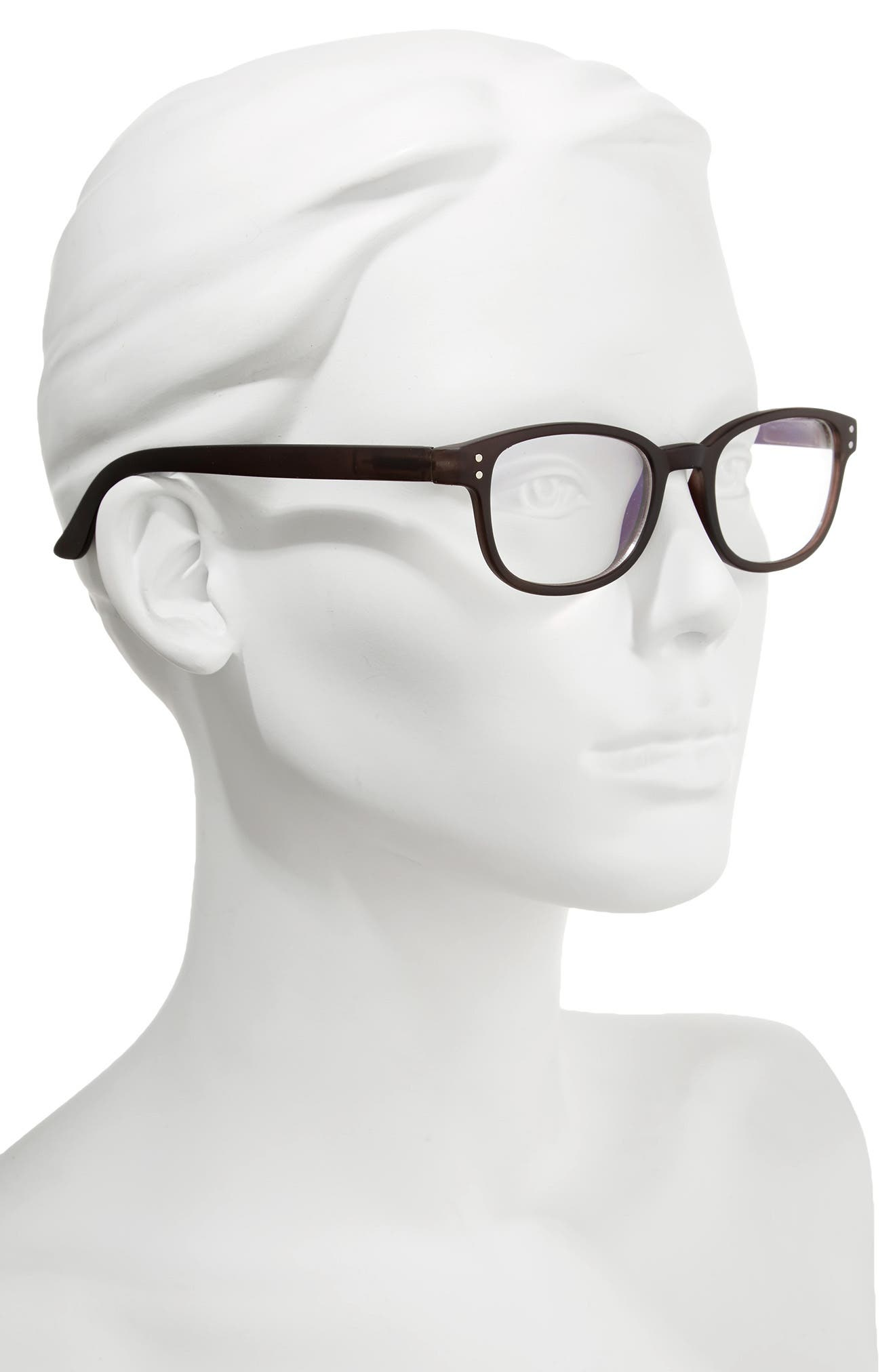 ColorSpex<sup>®</sup> 50mm Blue Light Blocking Reading Glasses,                             Alternate thumbnail 2, color,                             BLACK
