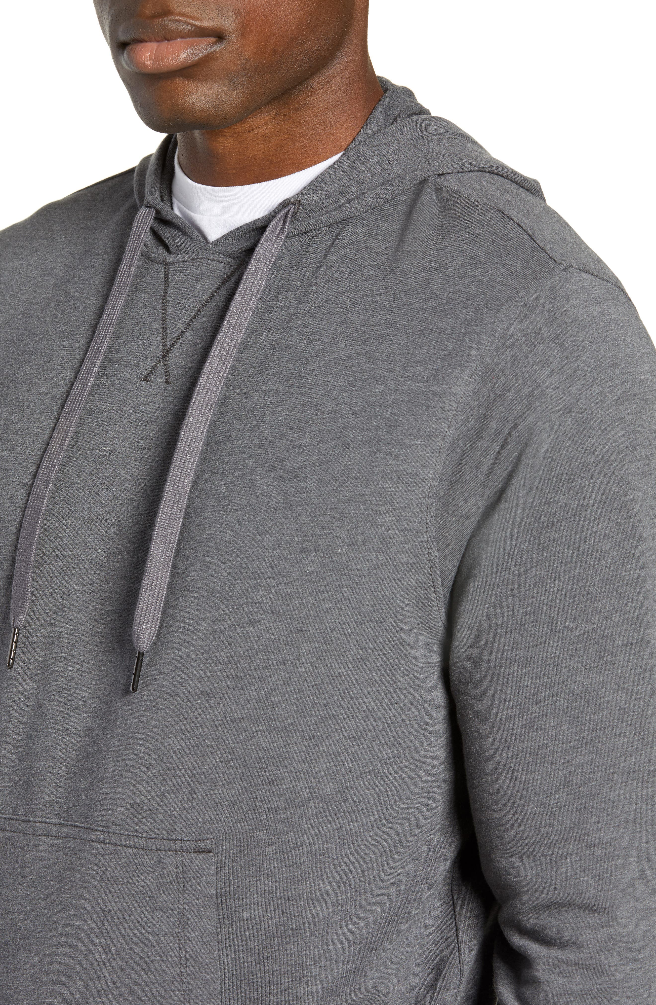 Legacy Hooded Pullover,                             Alternate thumbnail 4, color,                             BLACK