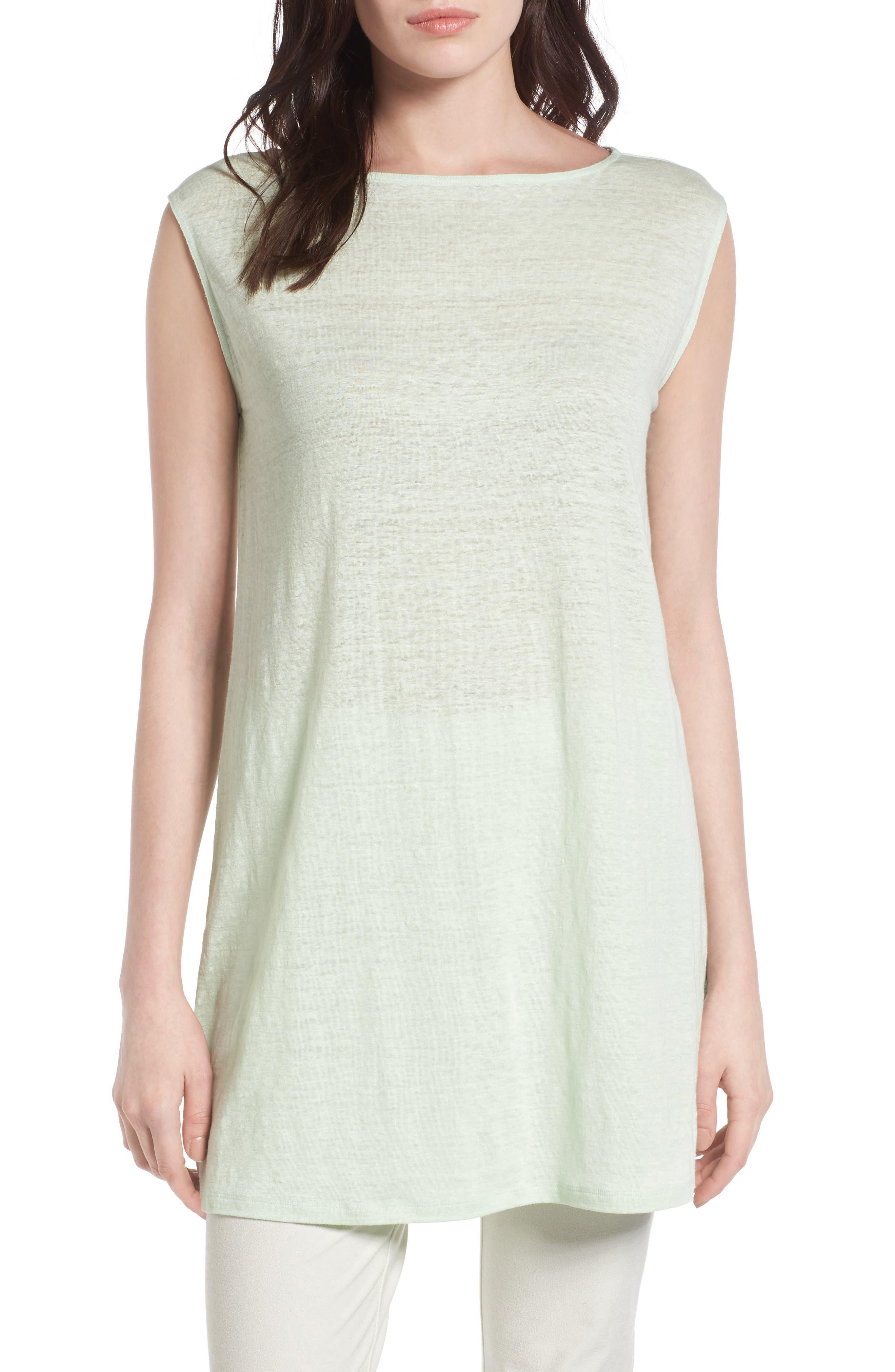 Organic Linen Tunic,                         Main,                         color, 365