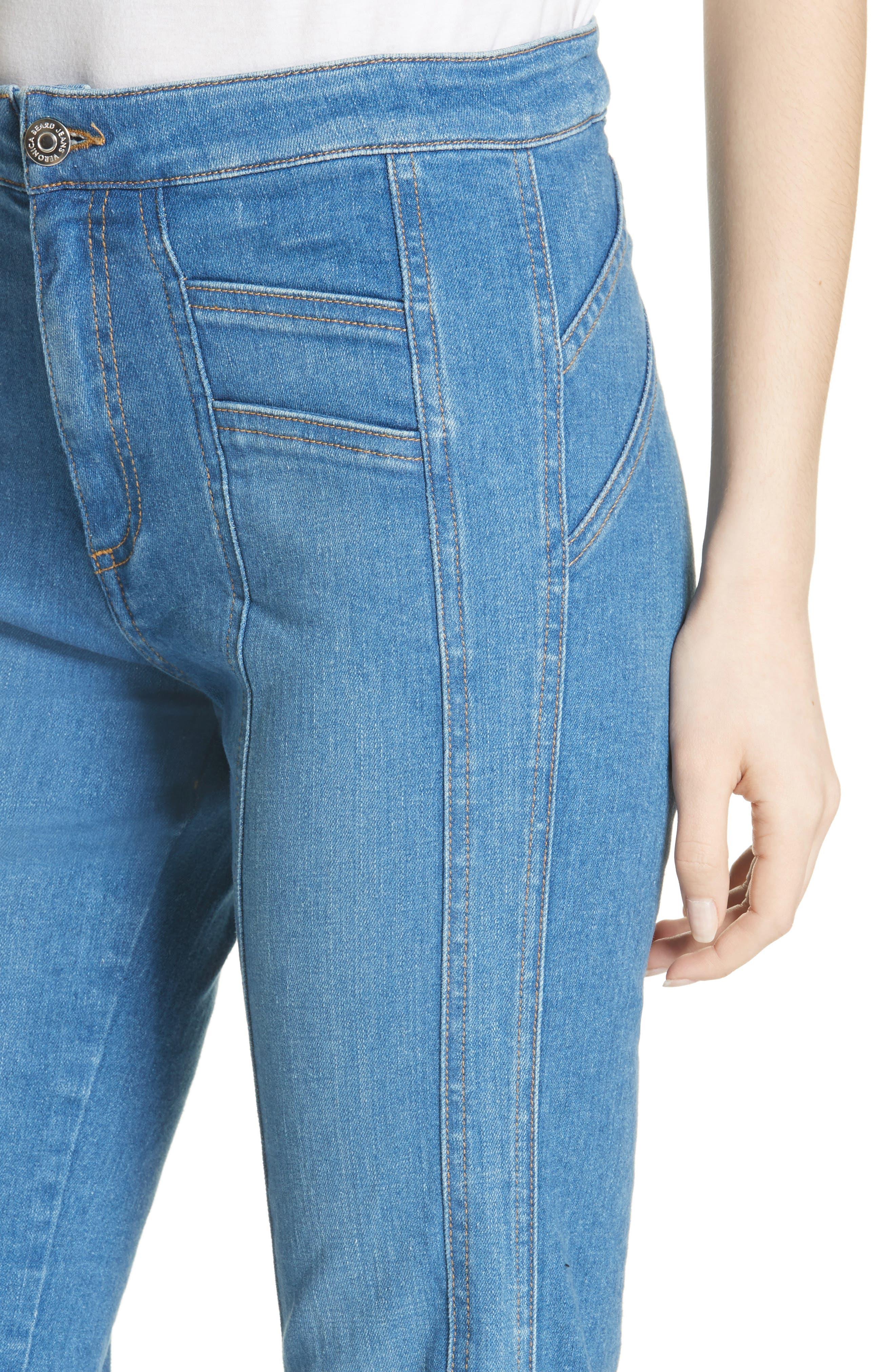 Farrah Wide Leg Jeans,                             Alternate thumbnail 4, color,                             400