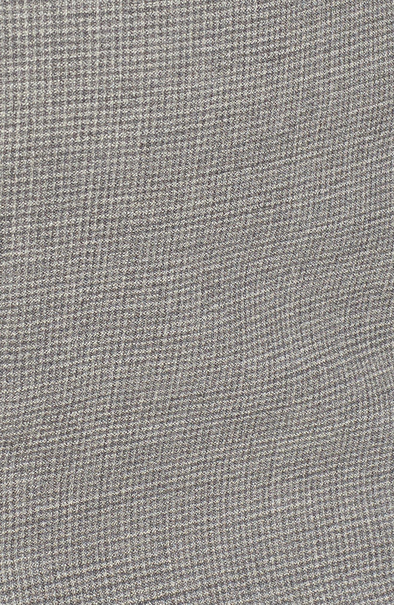 Dewisa Check Wool Sheath Dress,                             Alternate thumbnail 5, color,
