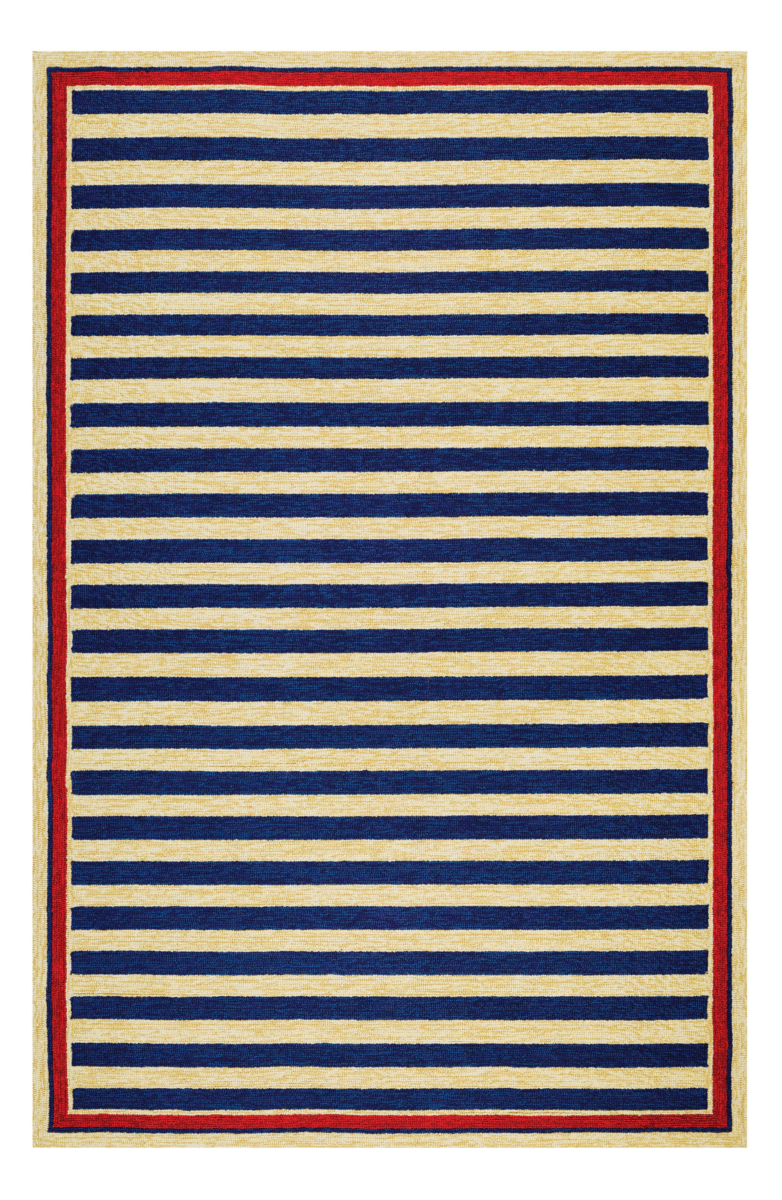 Nautical Stripes Indoor/Outdoor Rug,                             Alternate thumbnail 2, color,                             400