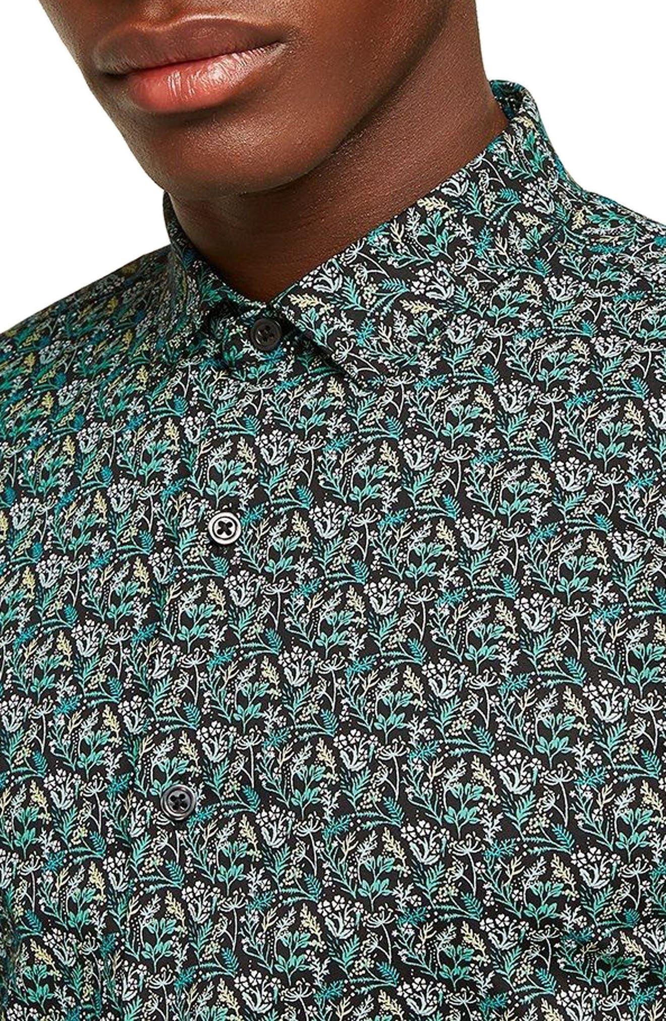 Dark Garden Muscle Fit Sport Shirt,                             Alternate thumbnail 2, color,