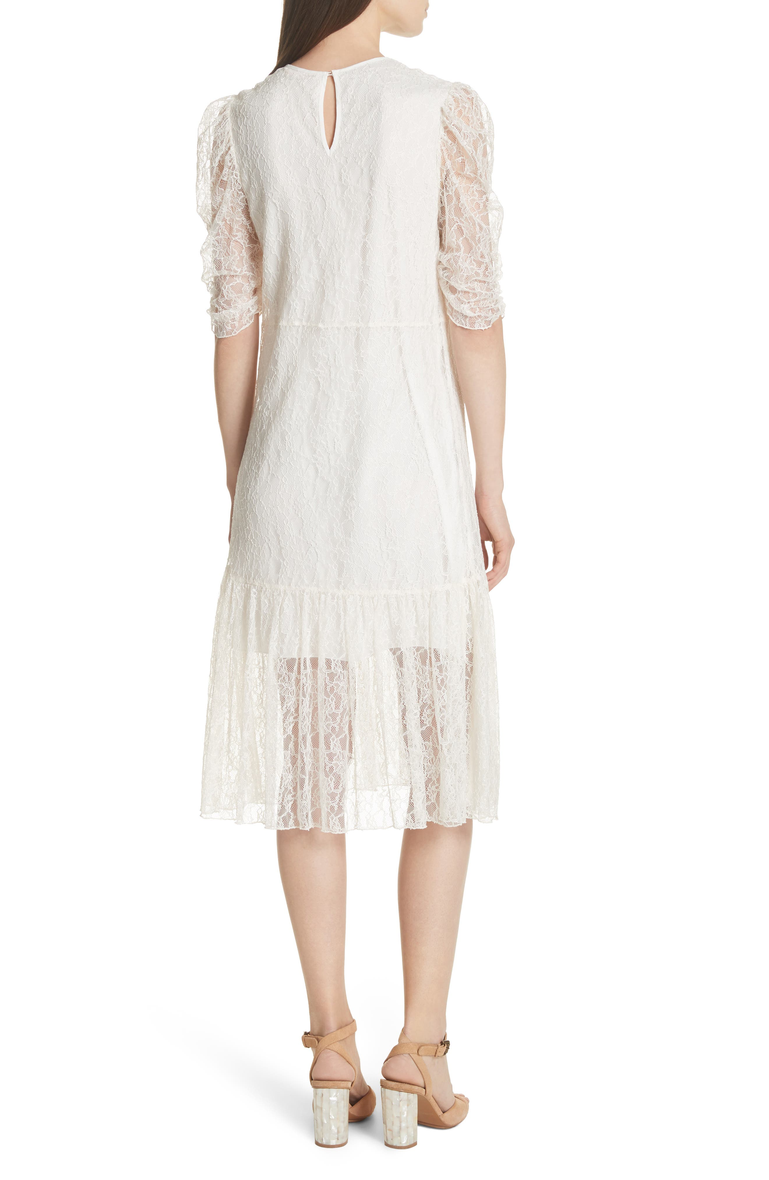 Lace Dress,                             Alternate thumbnail 2, color,                             WHITE
