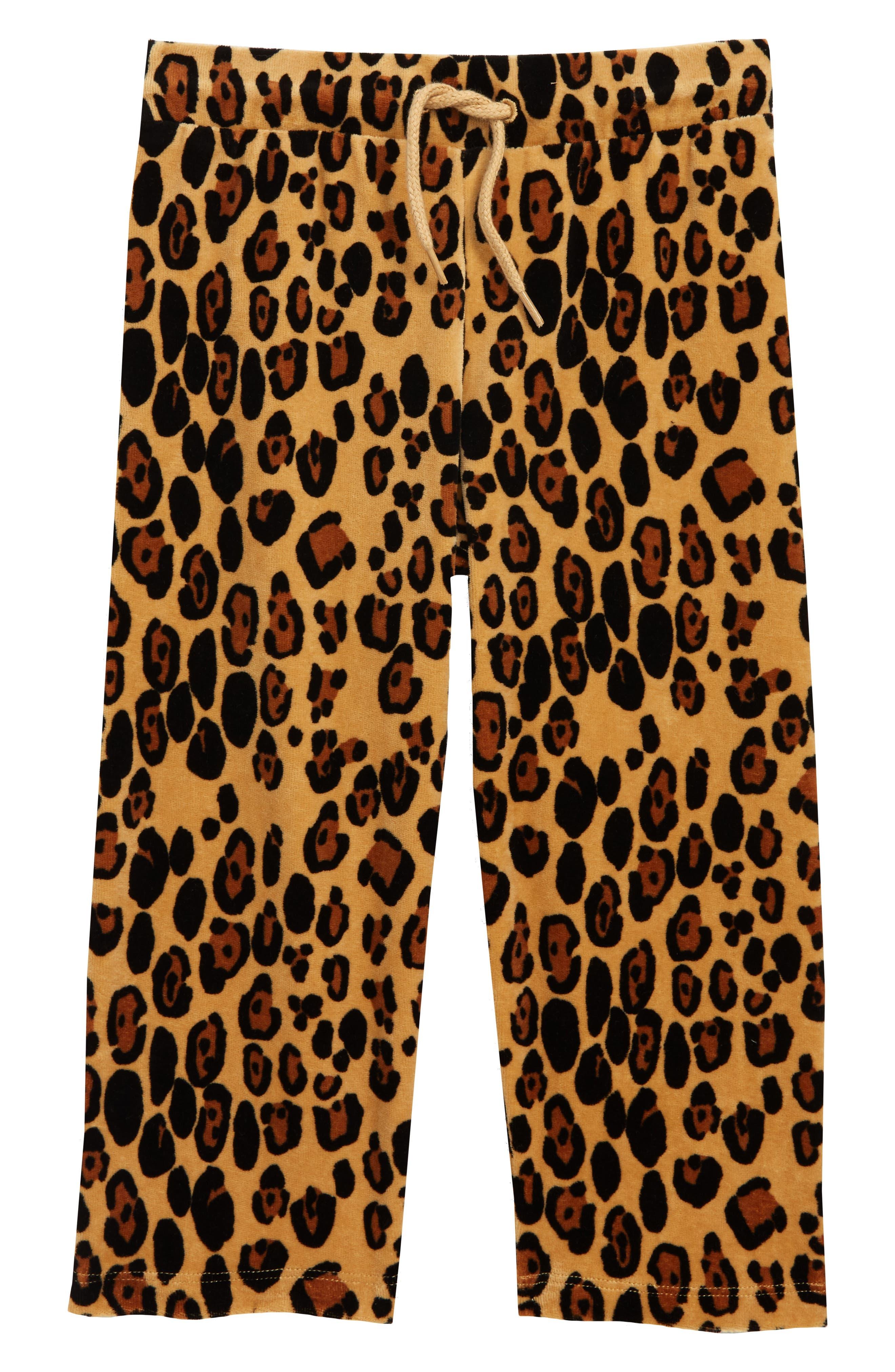 Leopard Velour Sweatpants,                             Main thumbnail 1, color,                             BEIGE