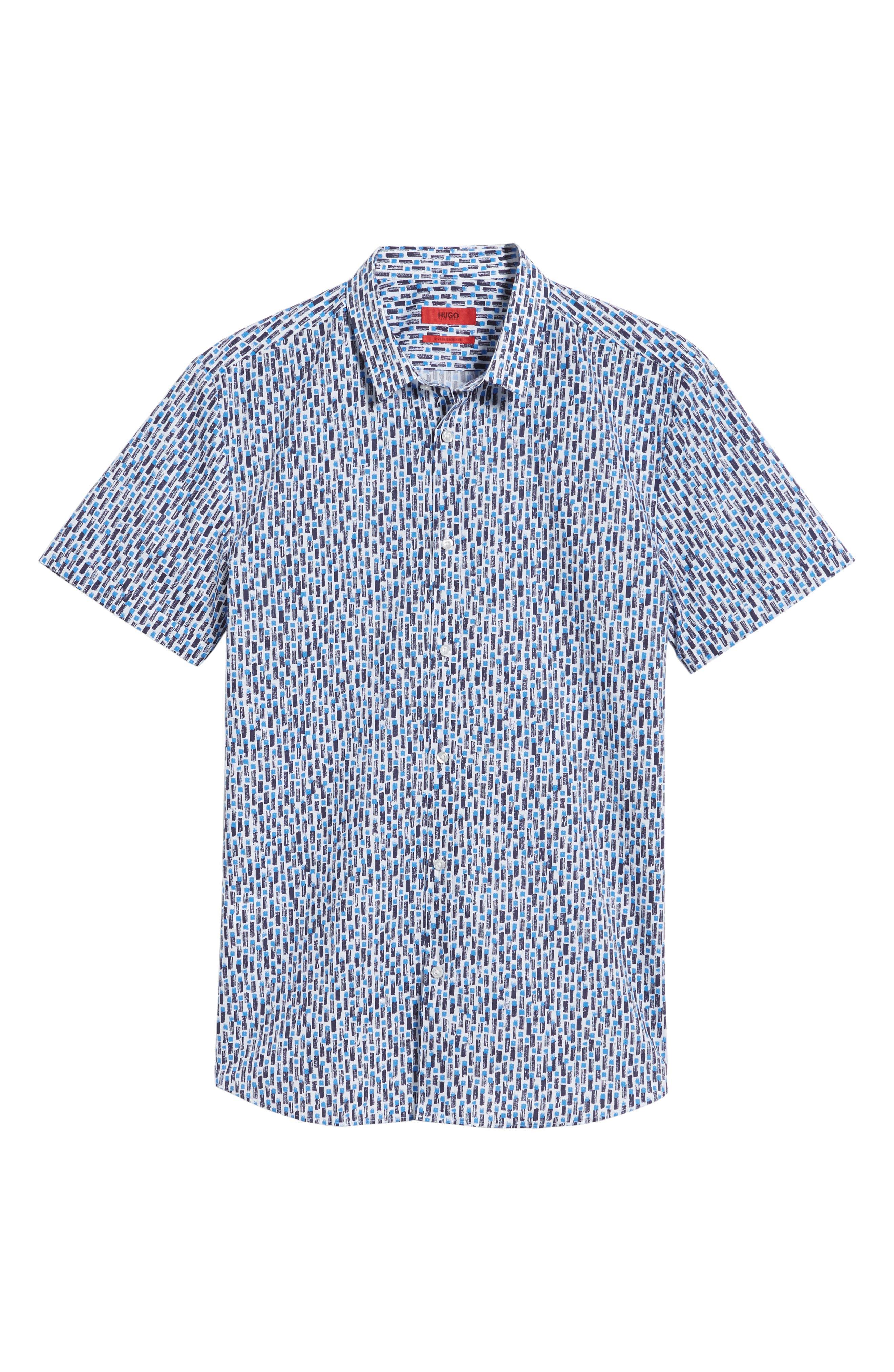 Empson Trim Fit Print Short Sleeve Sport Shirt,                             Alternate thumbnail 12, color,