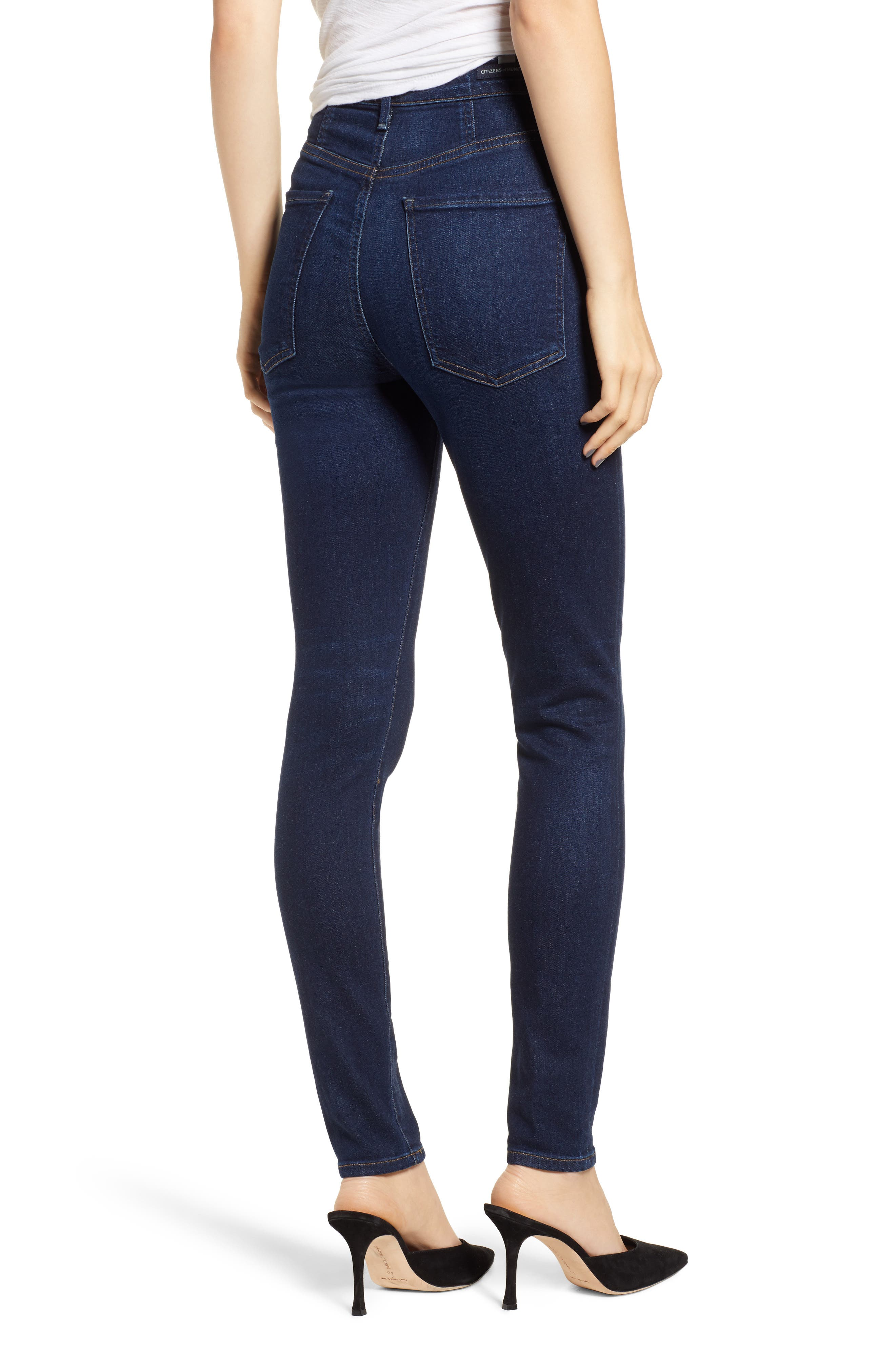 Chrissy High Waist Skinny Jeans,                             Alternate thumbnail 2, color,                             GALAXY