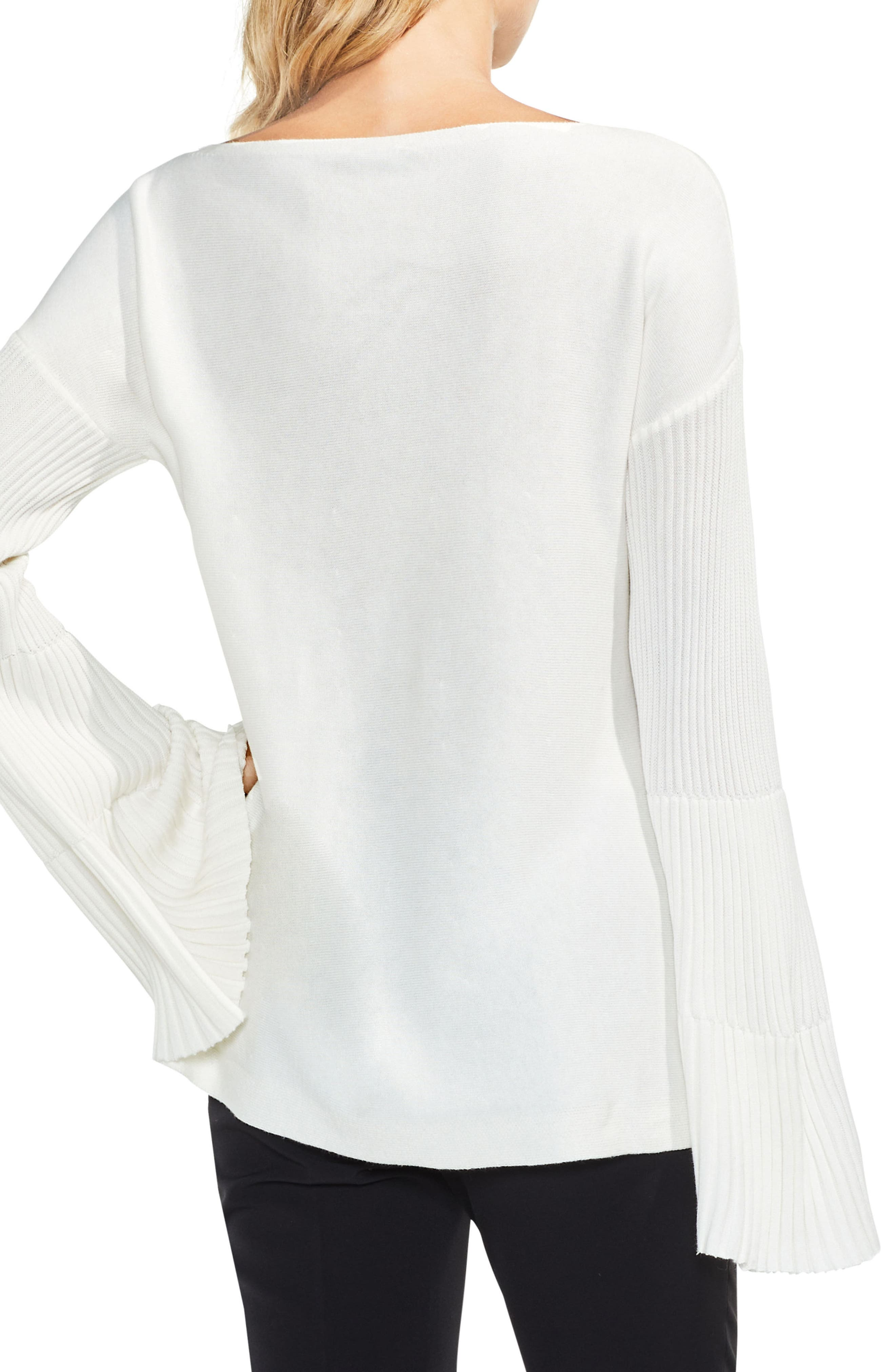 Bell Sleeve Ribbed Sweater,                             Alternate thumbnail 14, color,