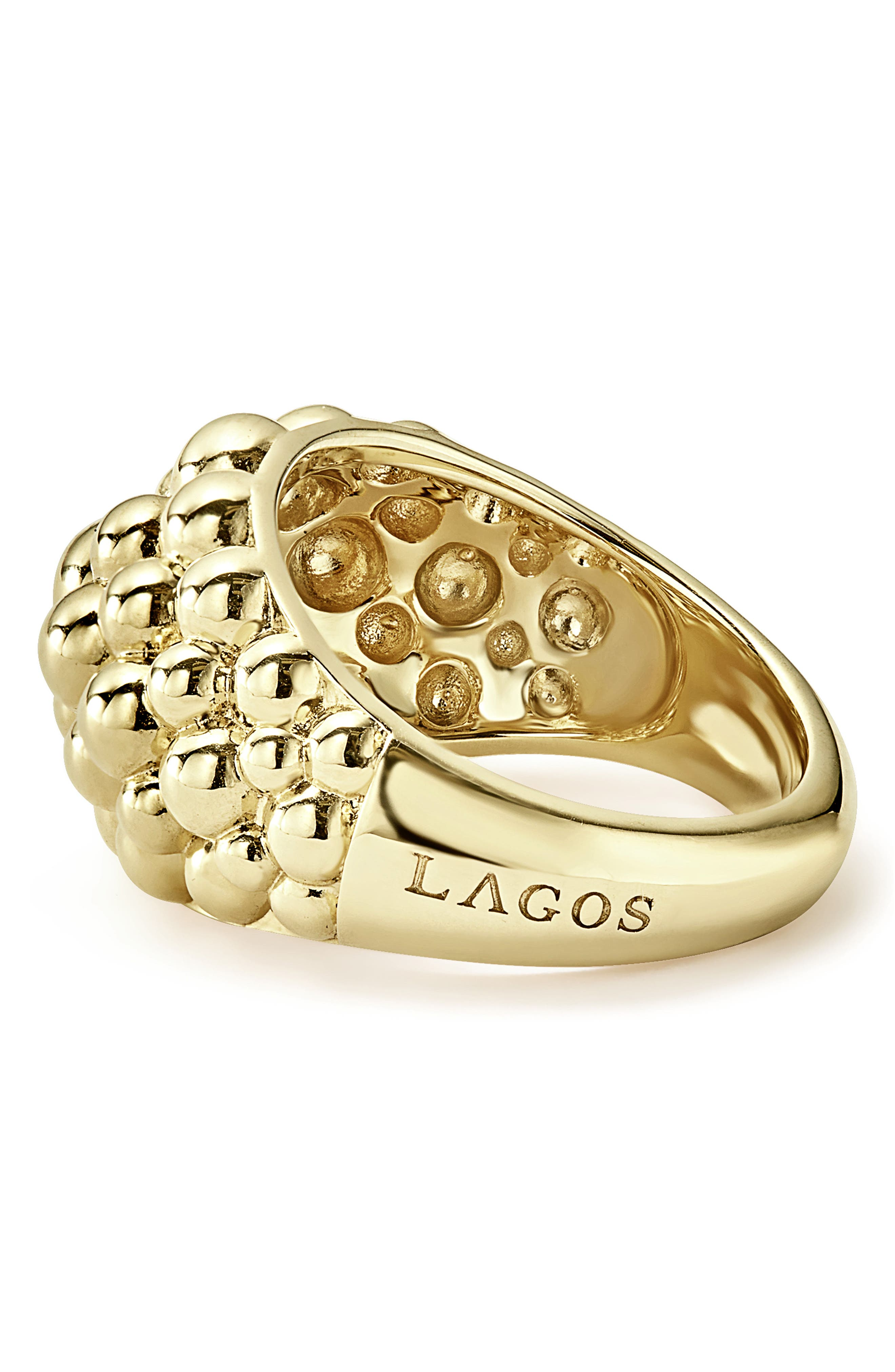LAGOS,                             Caviar Gold Bold Dome Ring,                             Alternate thumbnail 3, color,                             GOLD