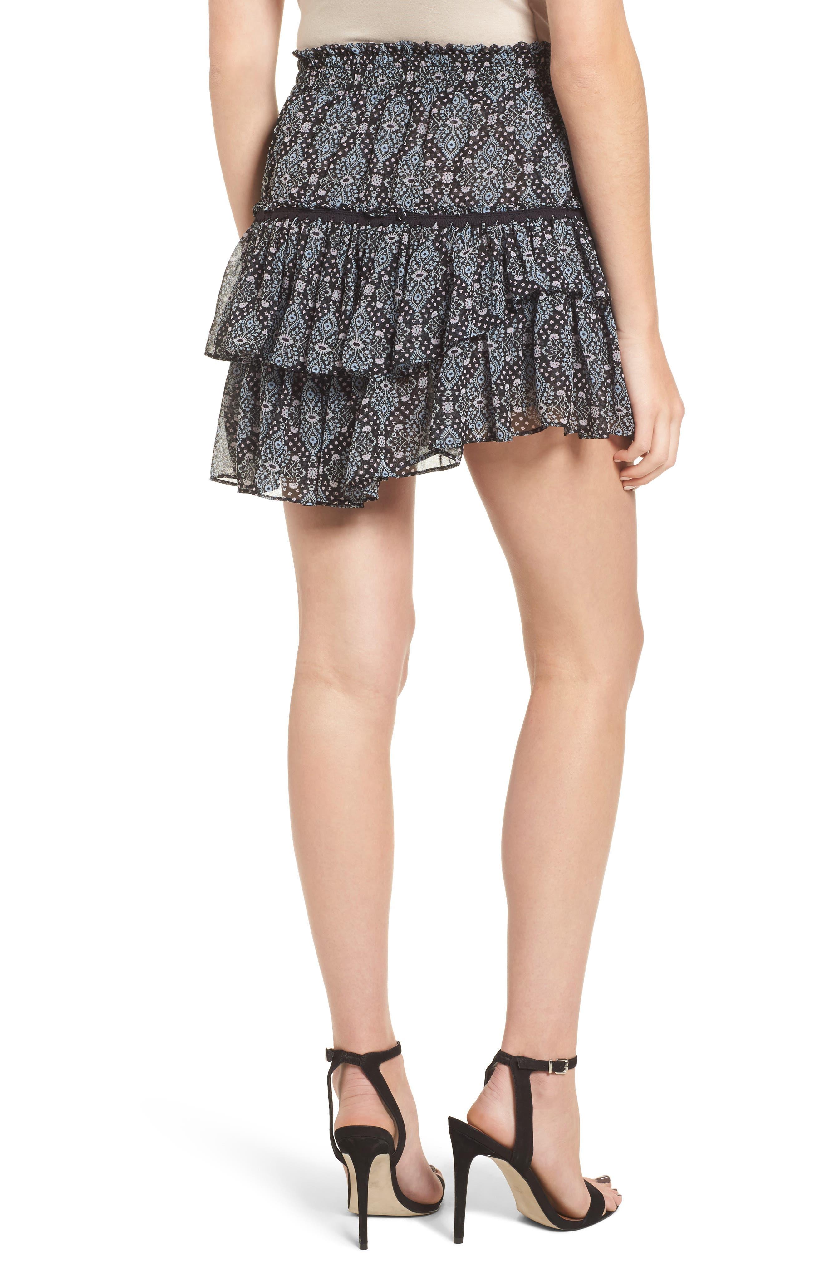 Taleh Ruffle Skirt,                             Alternate thumbnail 2, color,                             001