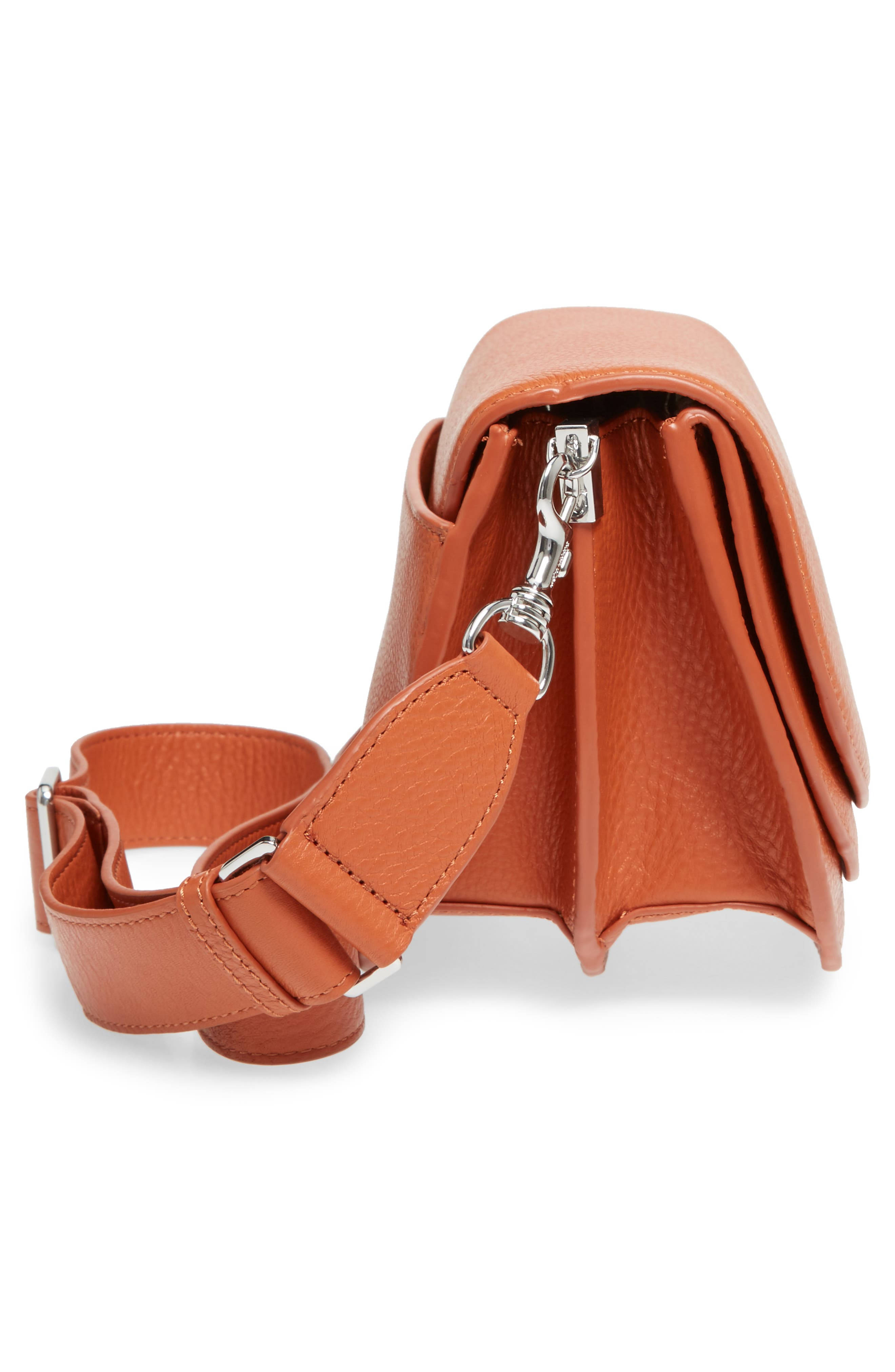 Landon Leather Crossbody Saddle Bag,                             Alternate thumbnail 20, color,