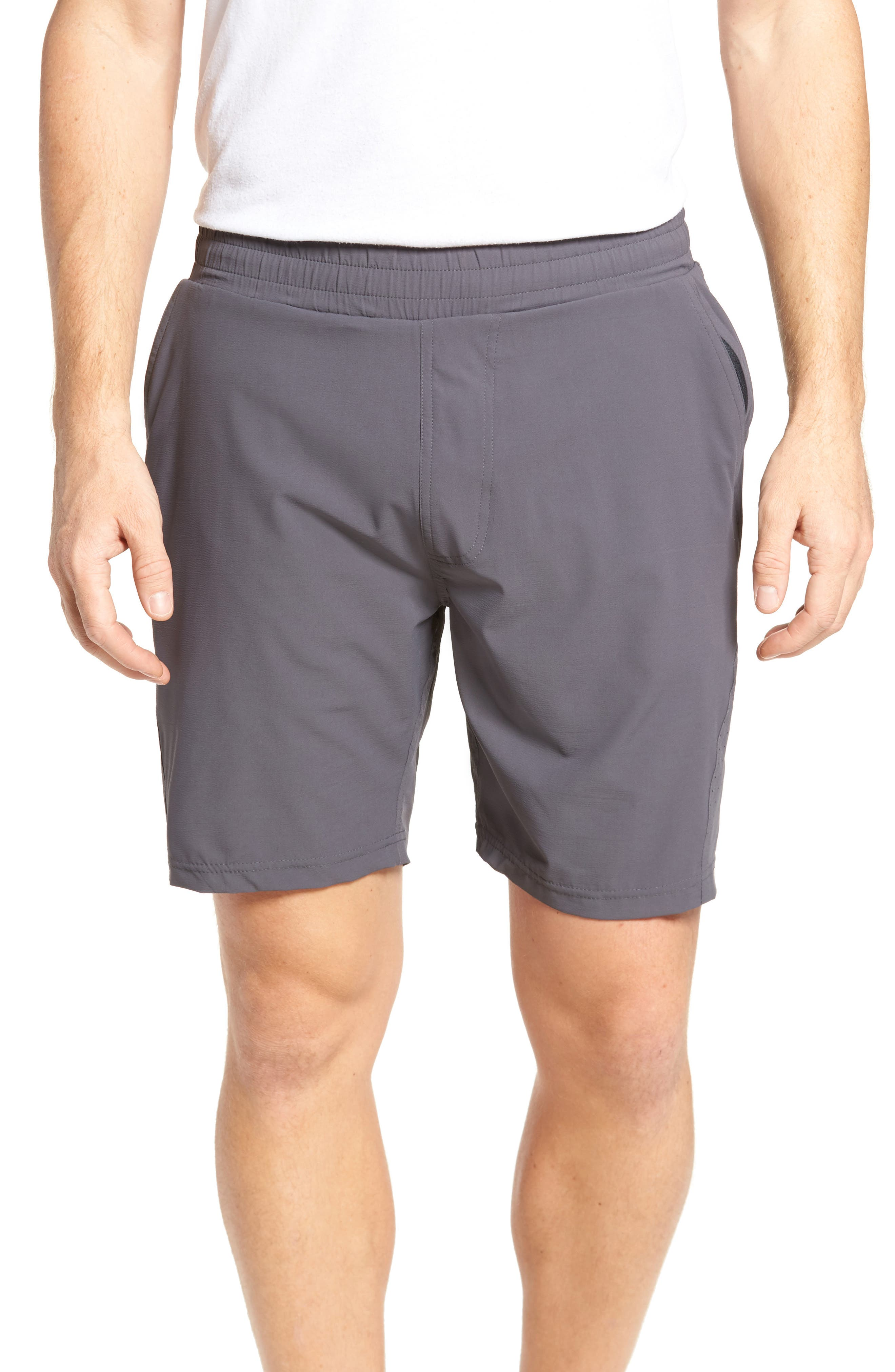 Tasc Performance Charge Water Resistant Athletic Shorts, Grey