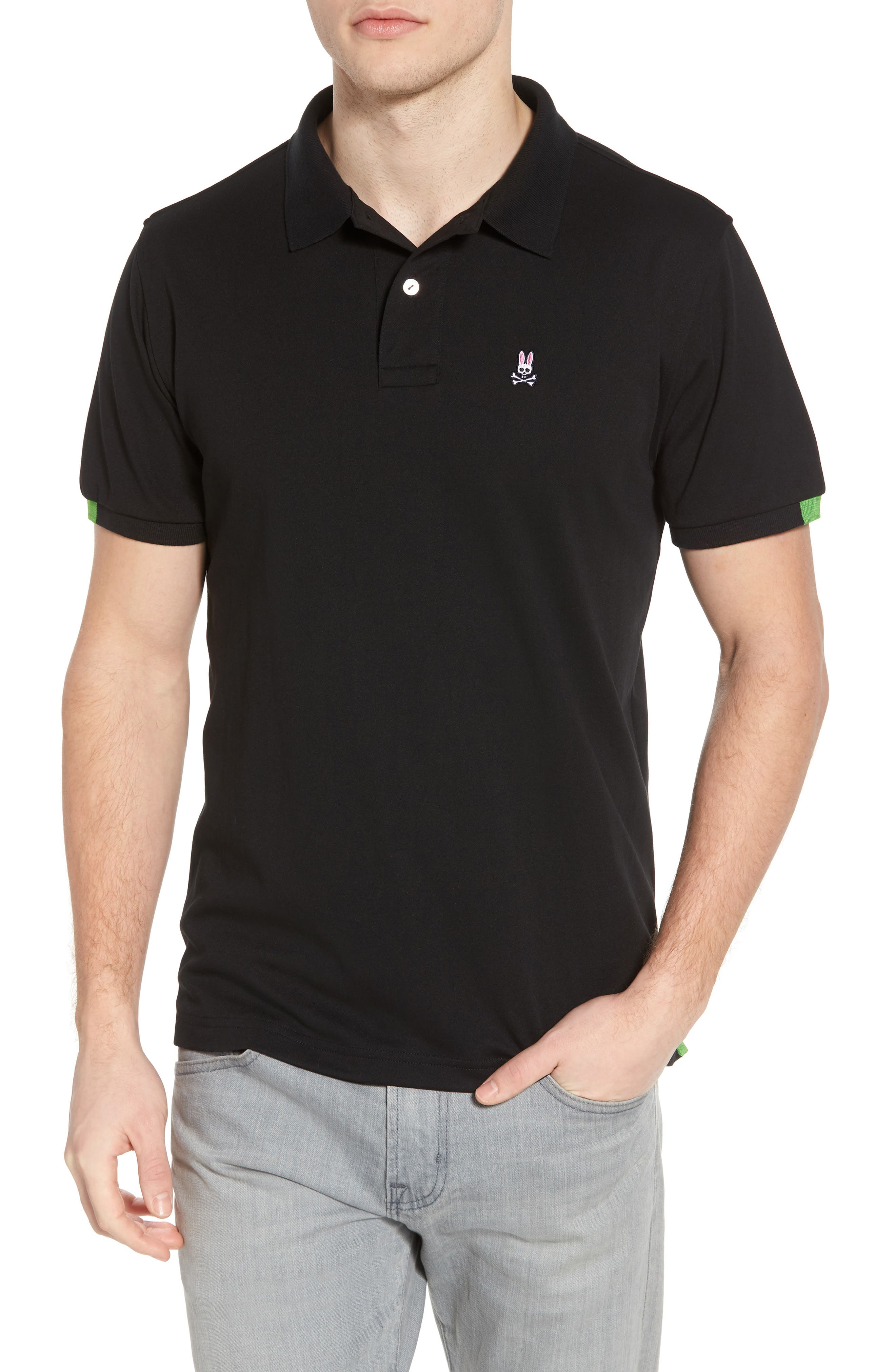Neon Tipped Golf Polo,                         Main,                         color, 001