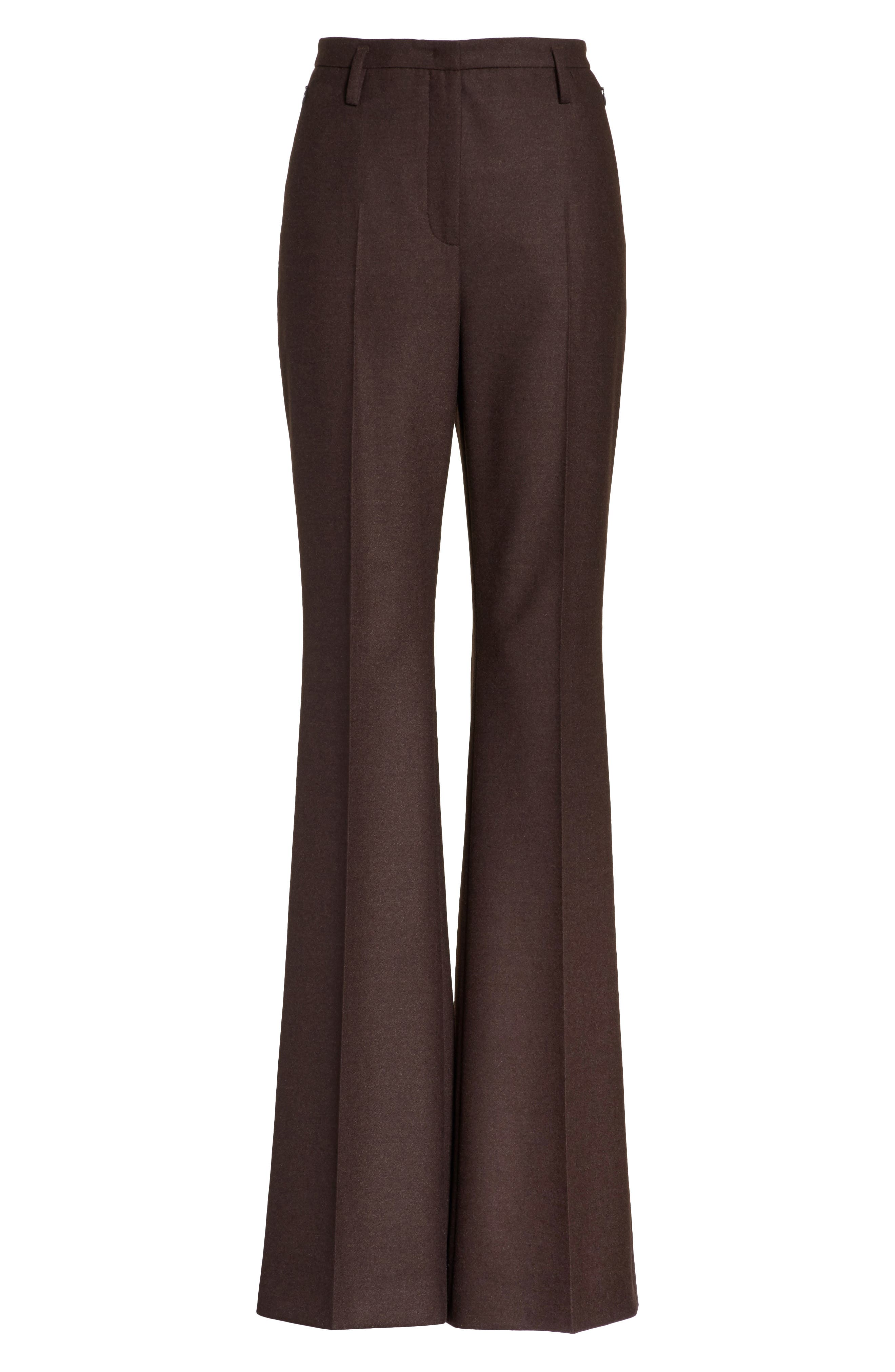 Farrah Stretch Wool Flare Pants,                             Alternate thumbnail 6, color,                             200
