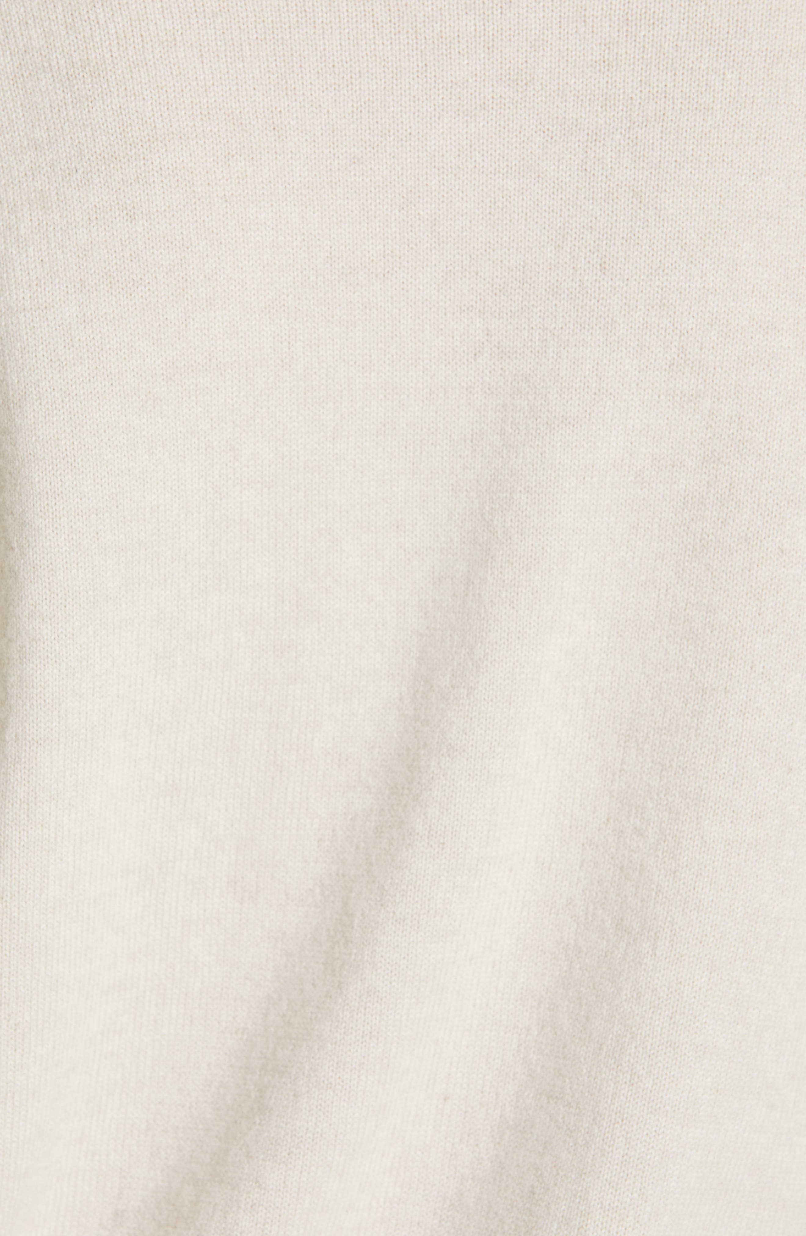 Monili Patchwork Cashmere Sweater,                             Alternate thumbnail 5, color,                             BUTTERMILK