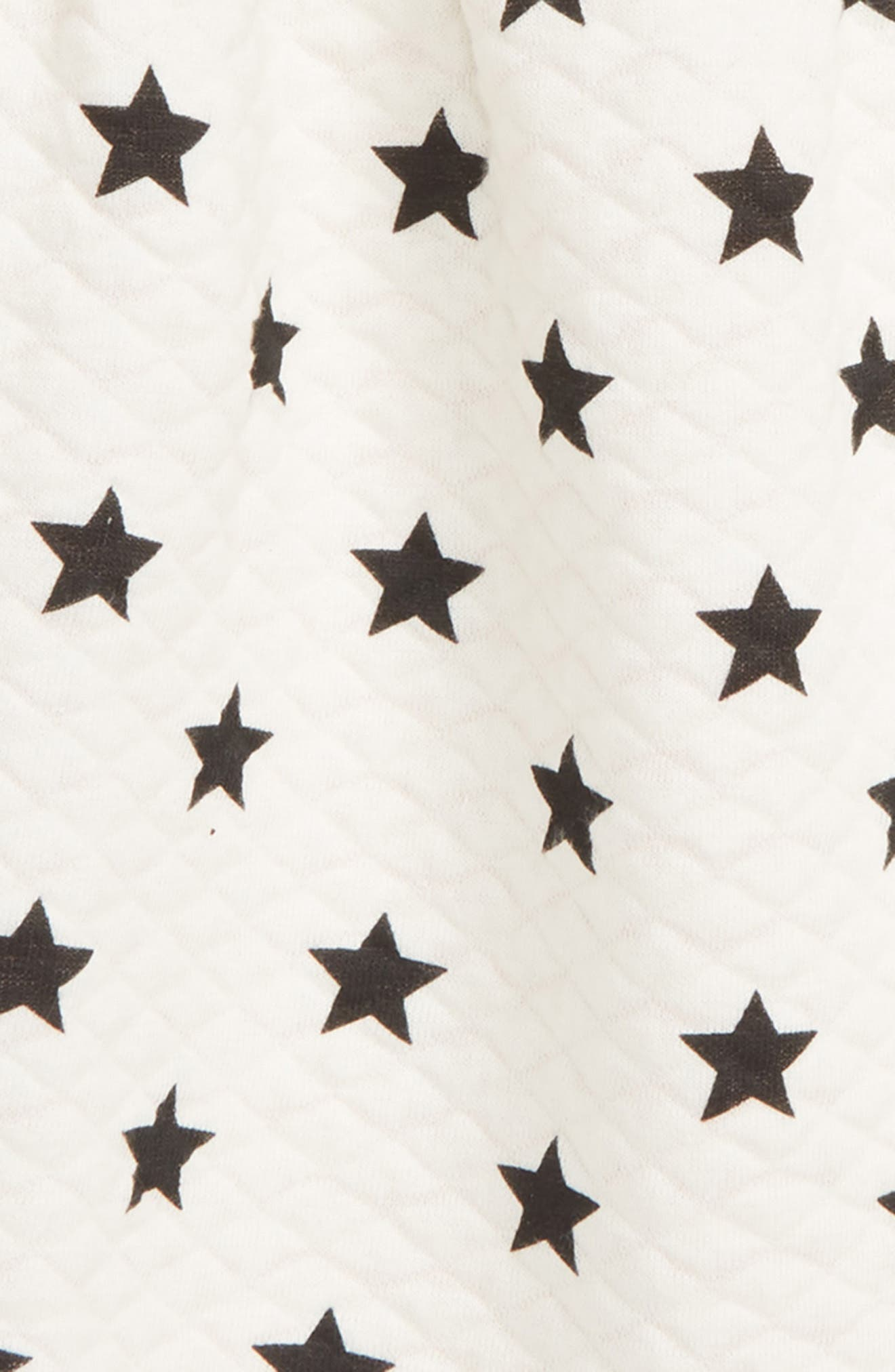 Star Quilted Dress,                             Alternate thumbnail 3, color,                             IVORY EGRET STARS