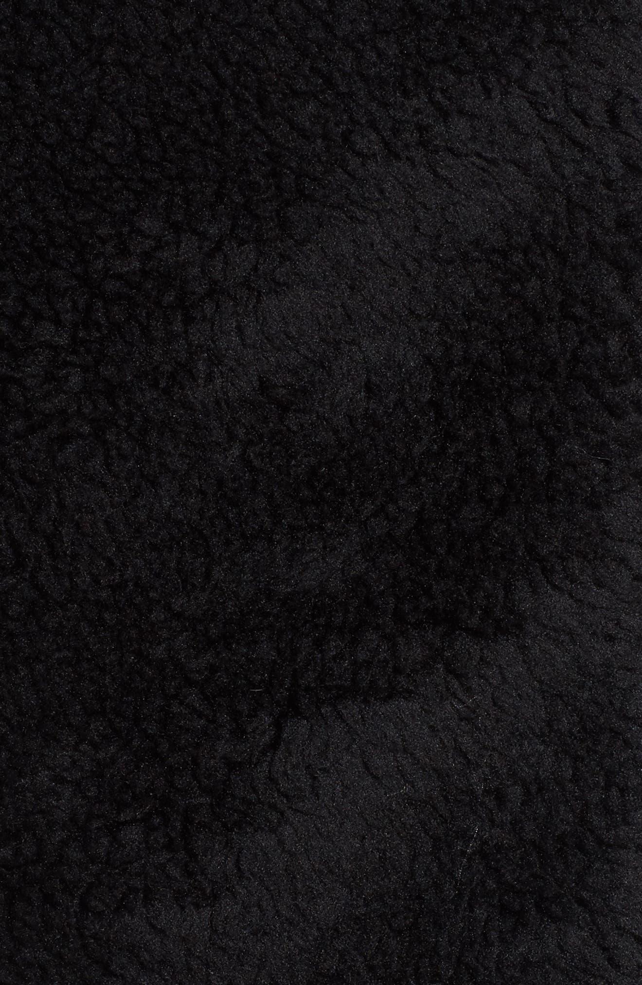 Cozy Up Faux Fur Crop Jacket,                             Alternate thumbnail 6, color,                             BLACK