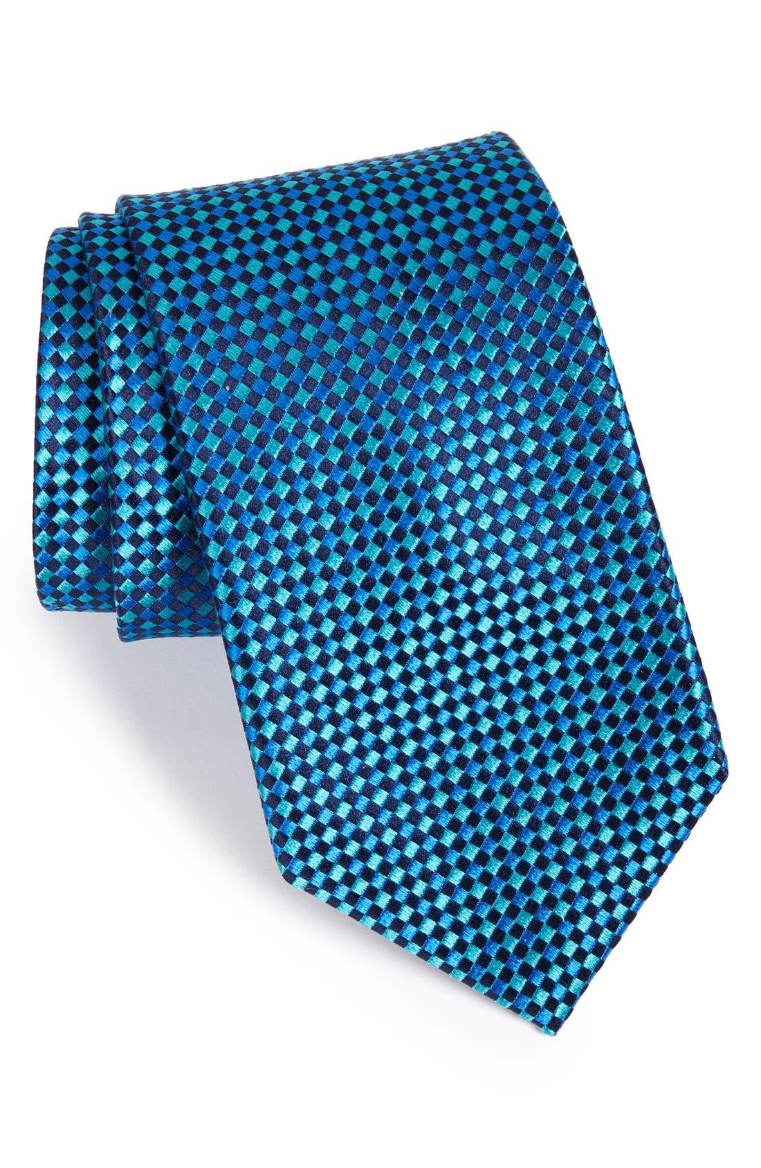 Check Silk Tie,                             Main thumbnail 7, color,