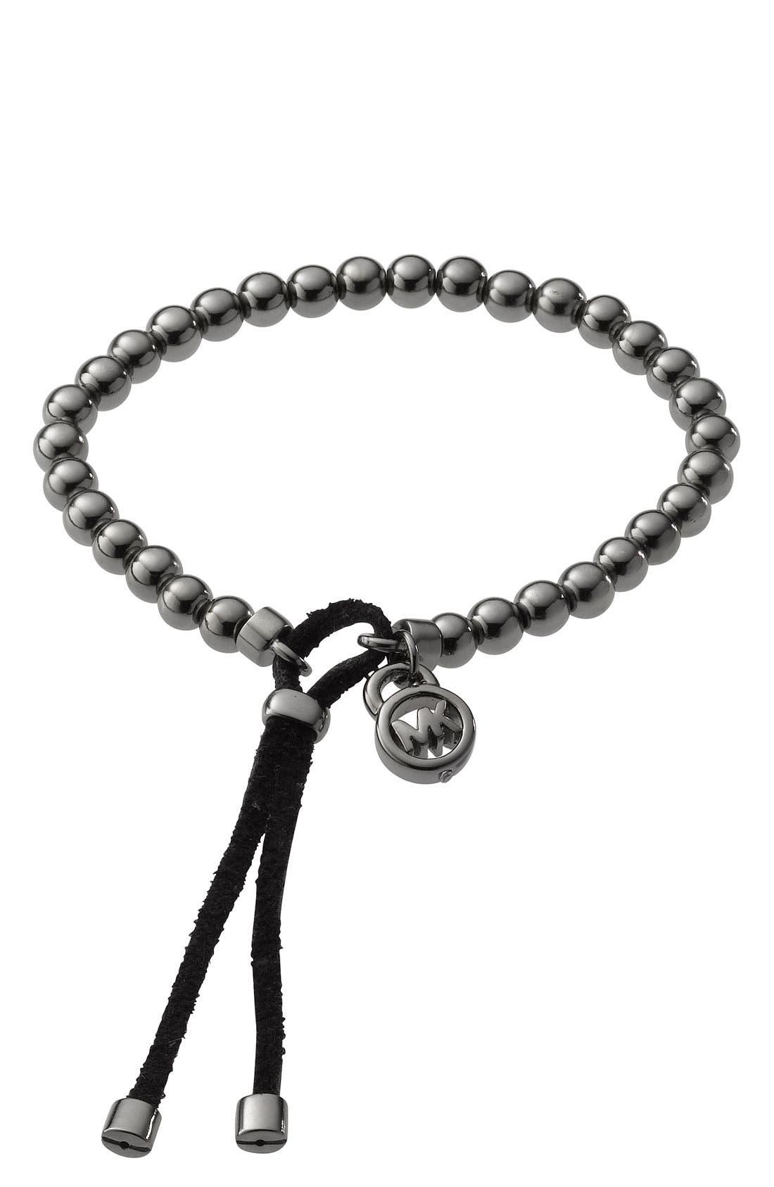 Michael Kors Beaded Stretch Bracelet,                             Main thumbnail 1, color,                             001