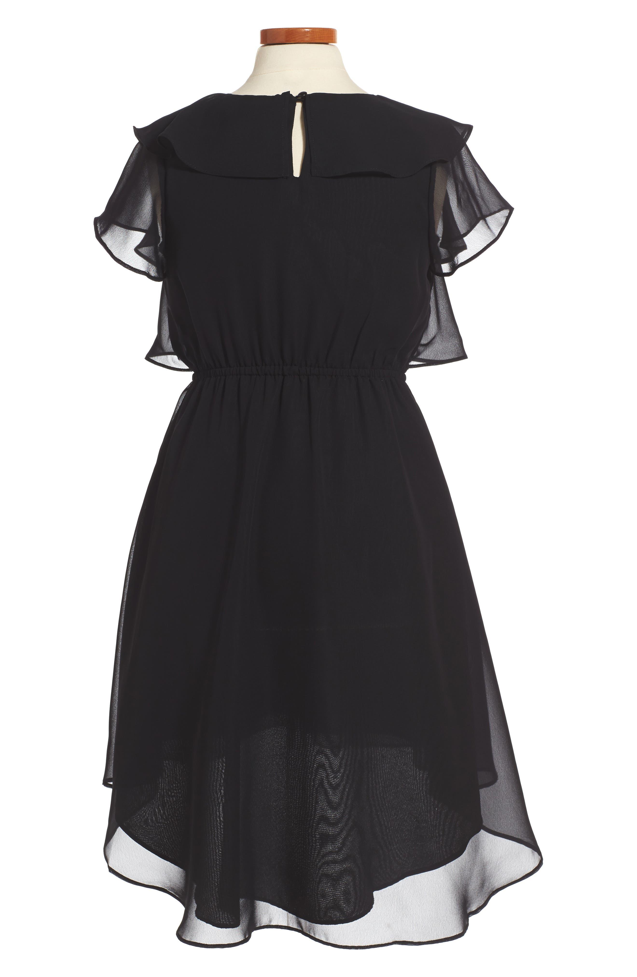 Ruffle Dress,                             Alternate thumbnail 2, color,                             001