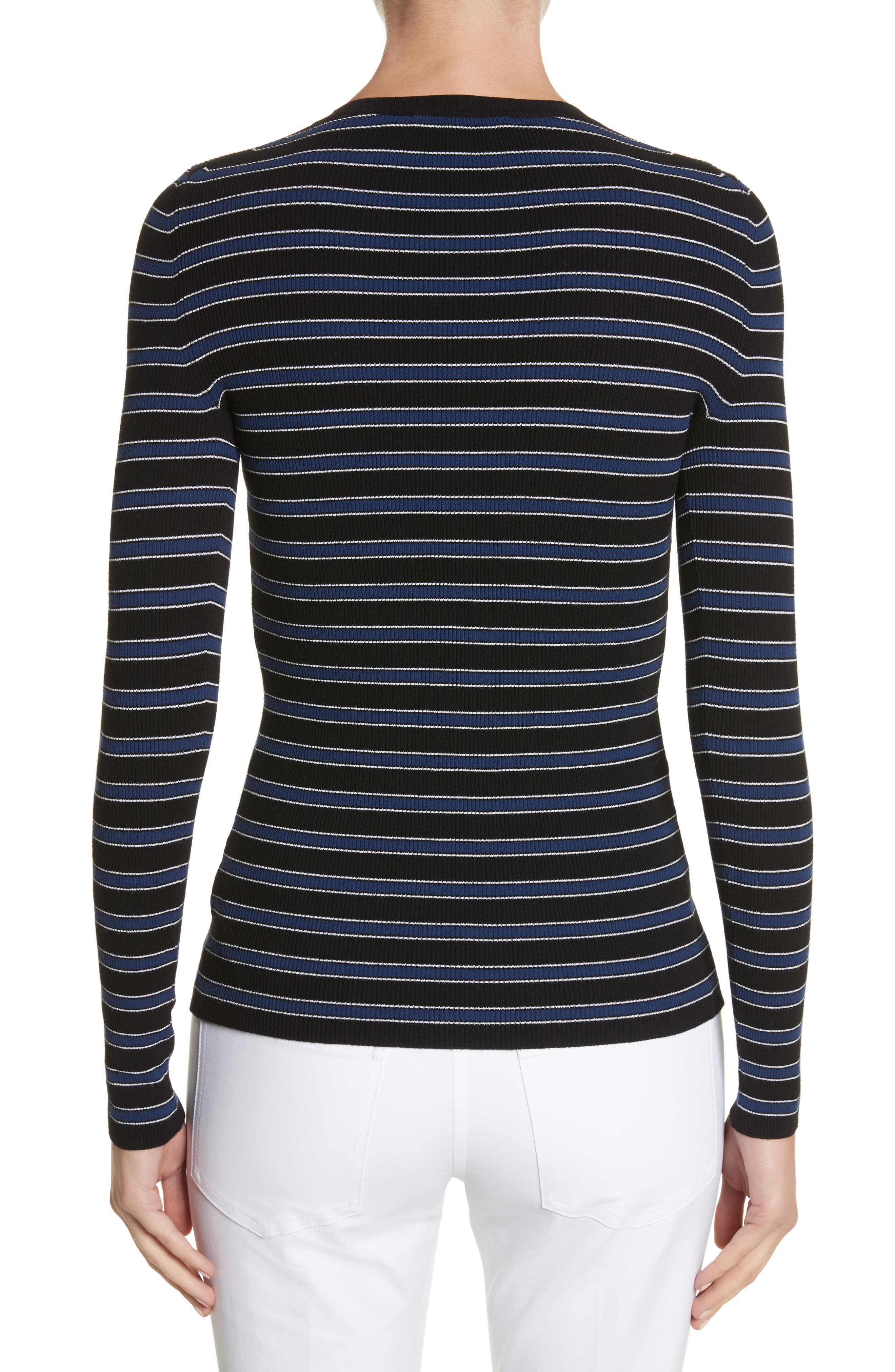 Stripe Top,                             Alternate thumbnail 2, color,