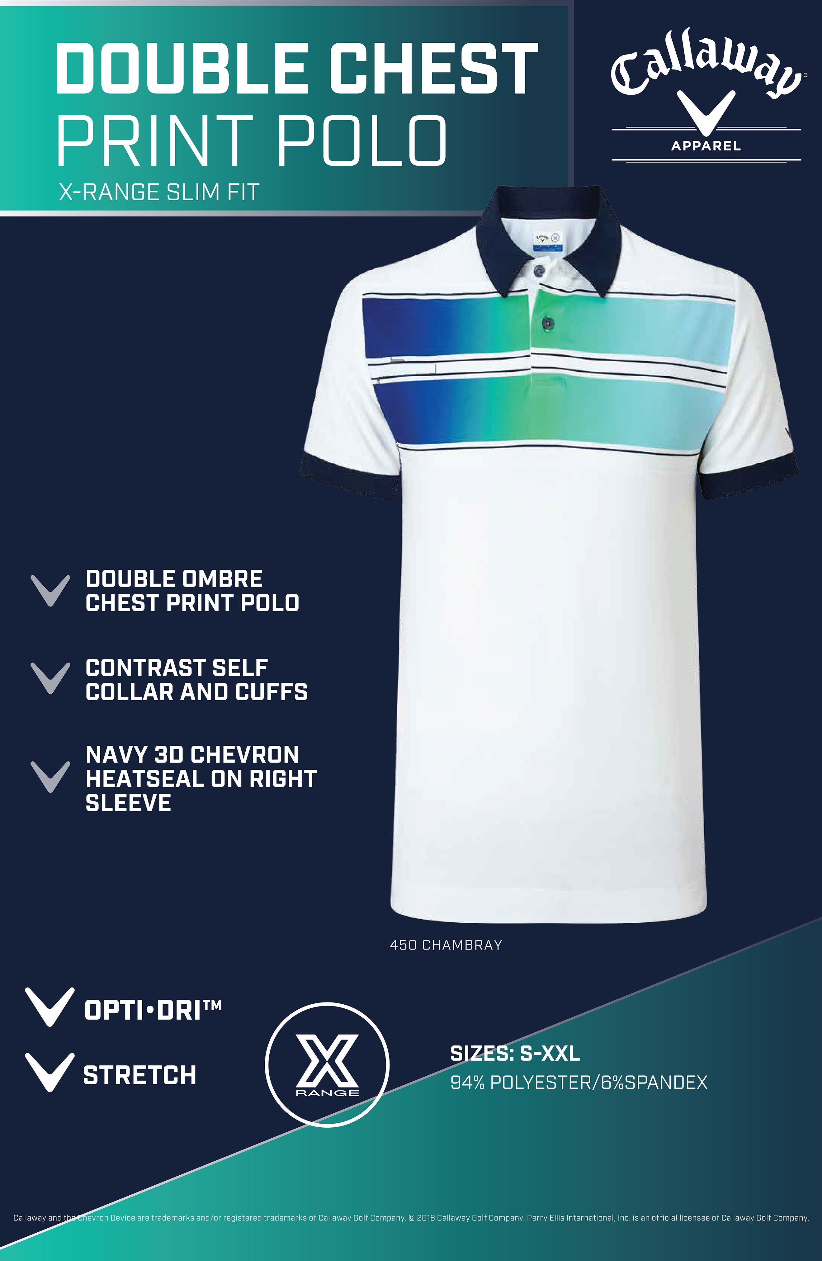 Slim Fit Double Chest Polo,                             Alternate thumbnail 7, color,                             BRIGHT WHITE