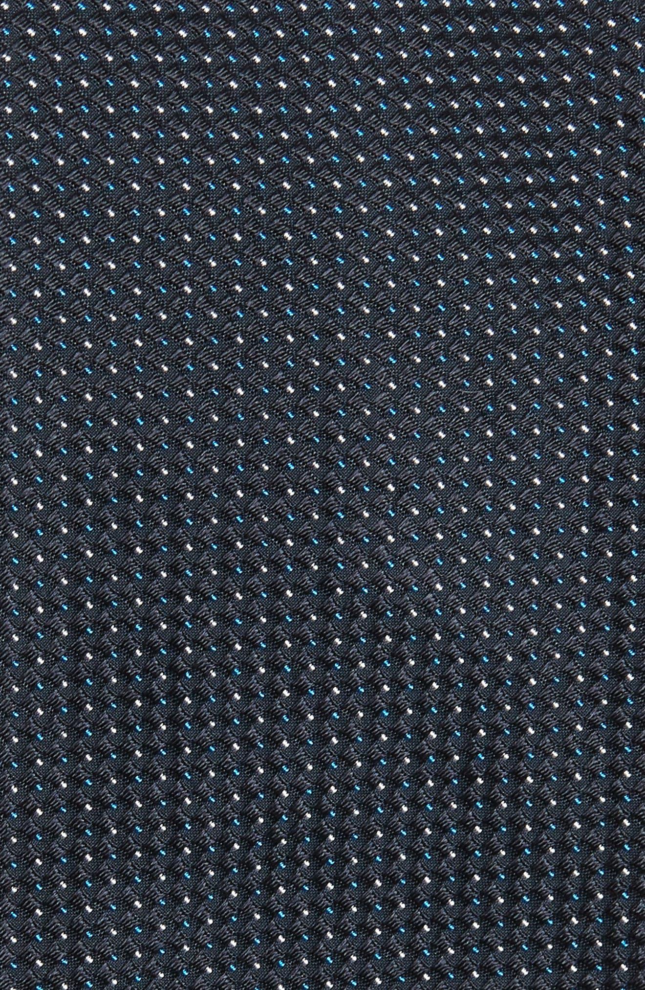 Dot Silk Tie,                             Alternate thumbnail 2, color,                             OPEN BLUE