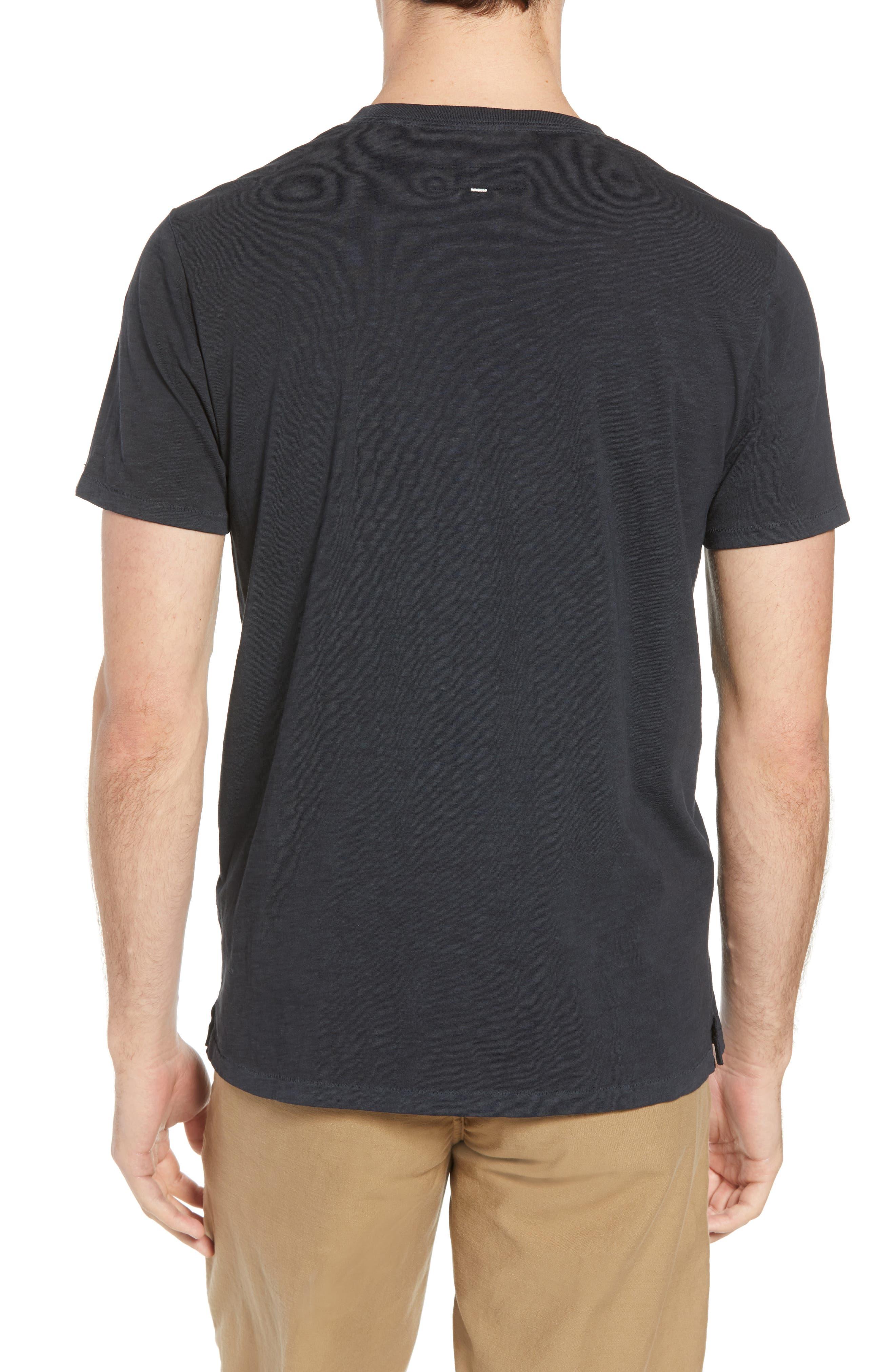 Upside Down Crewneck T-Shirt,                             Alternate thumbnail 2, color,                             WASHED BLACK