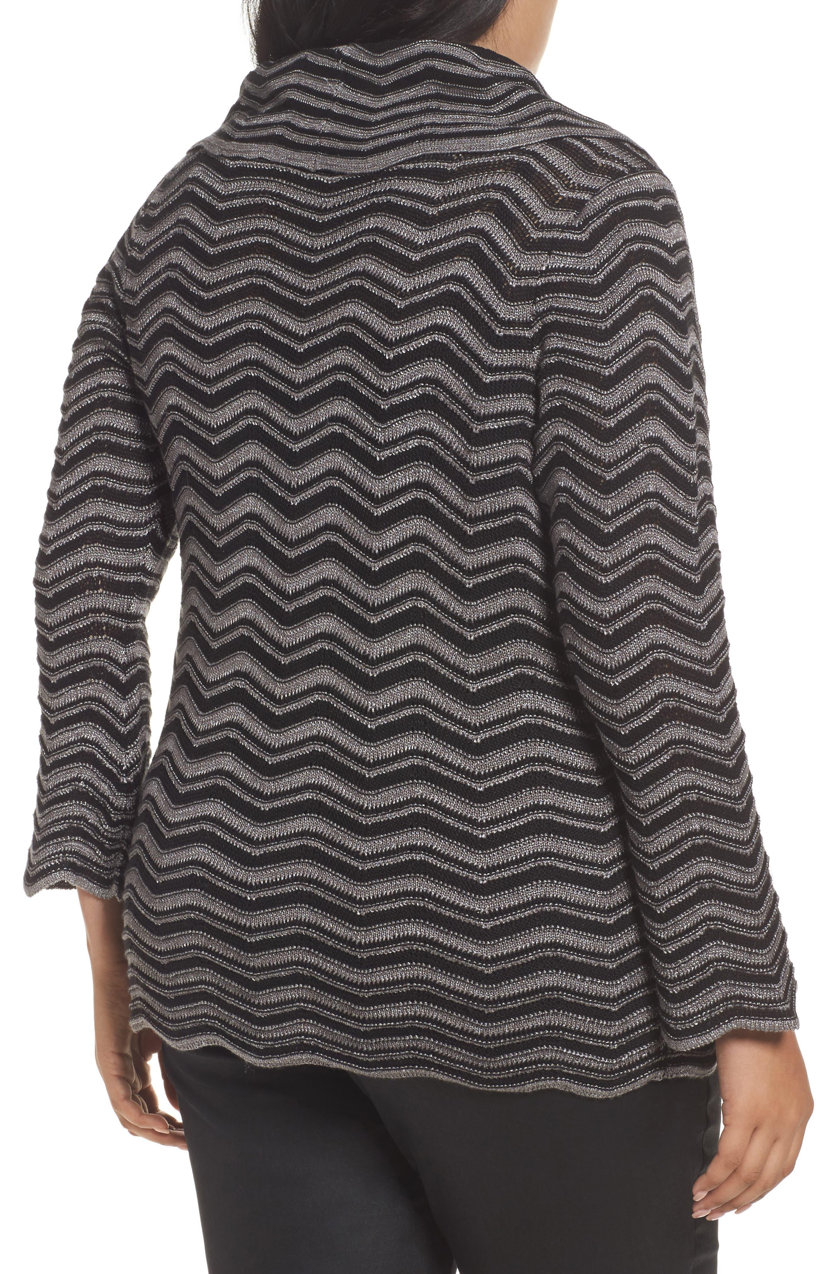 Zigzag Stripe Sweater,                             Alternate thumbnail 2, color,                             004