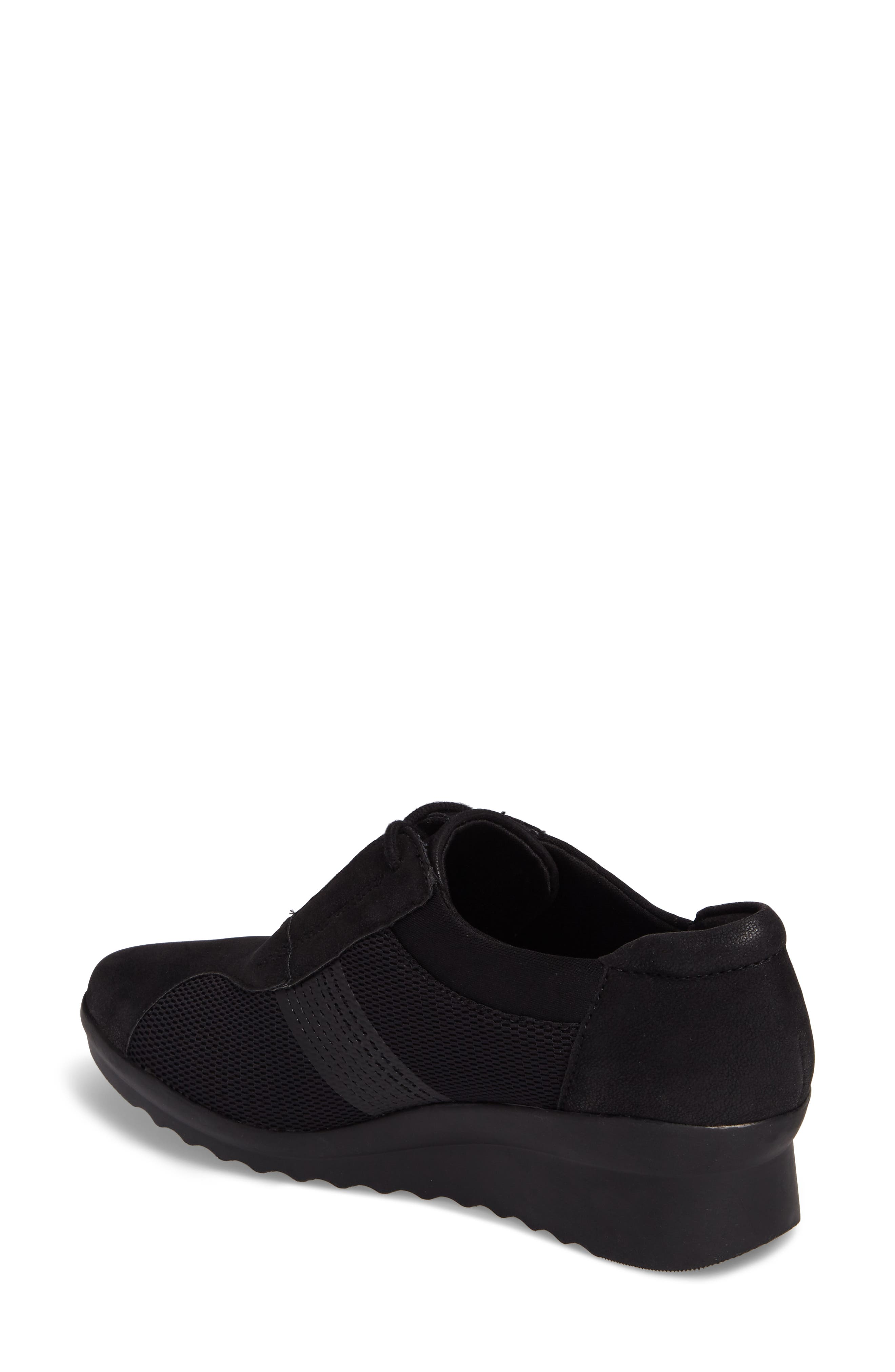 Caddell Fly Sneaker,                             Alternate thumbnail 2, color,                             BLACK FABRIC