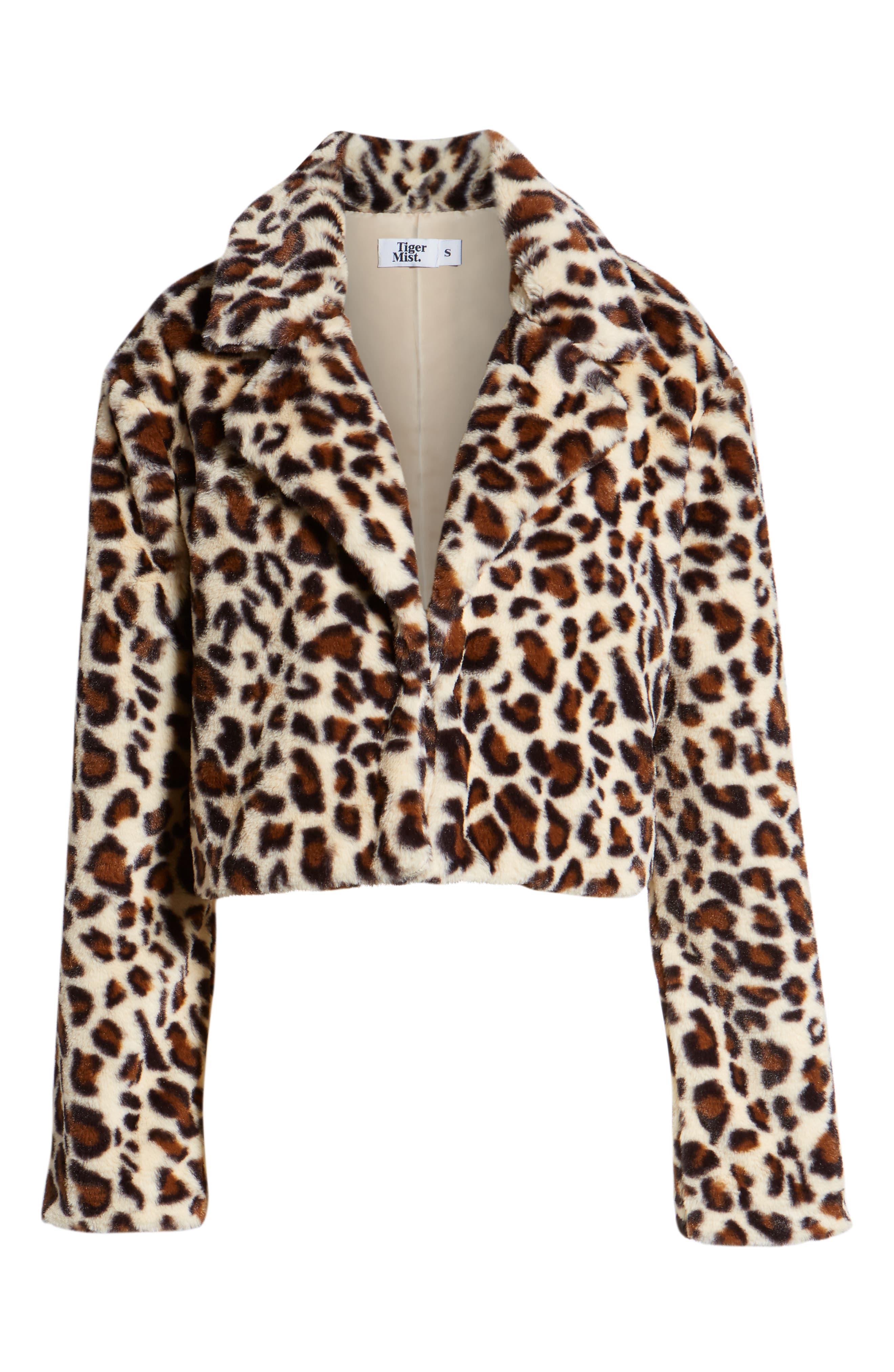 Mimi Faux Fur Jacket,                             Alternate thumbnail 6, color,                             LEOPARD
