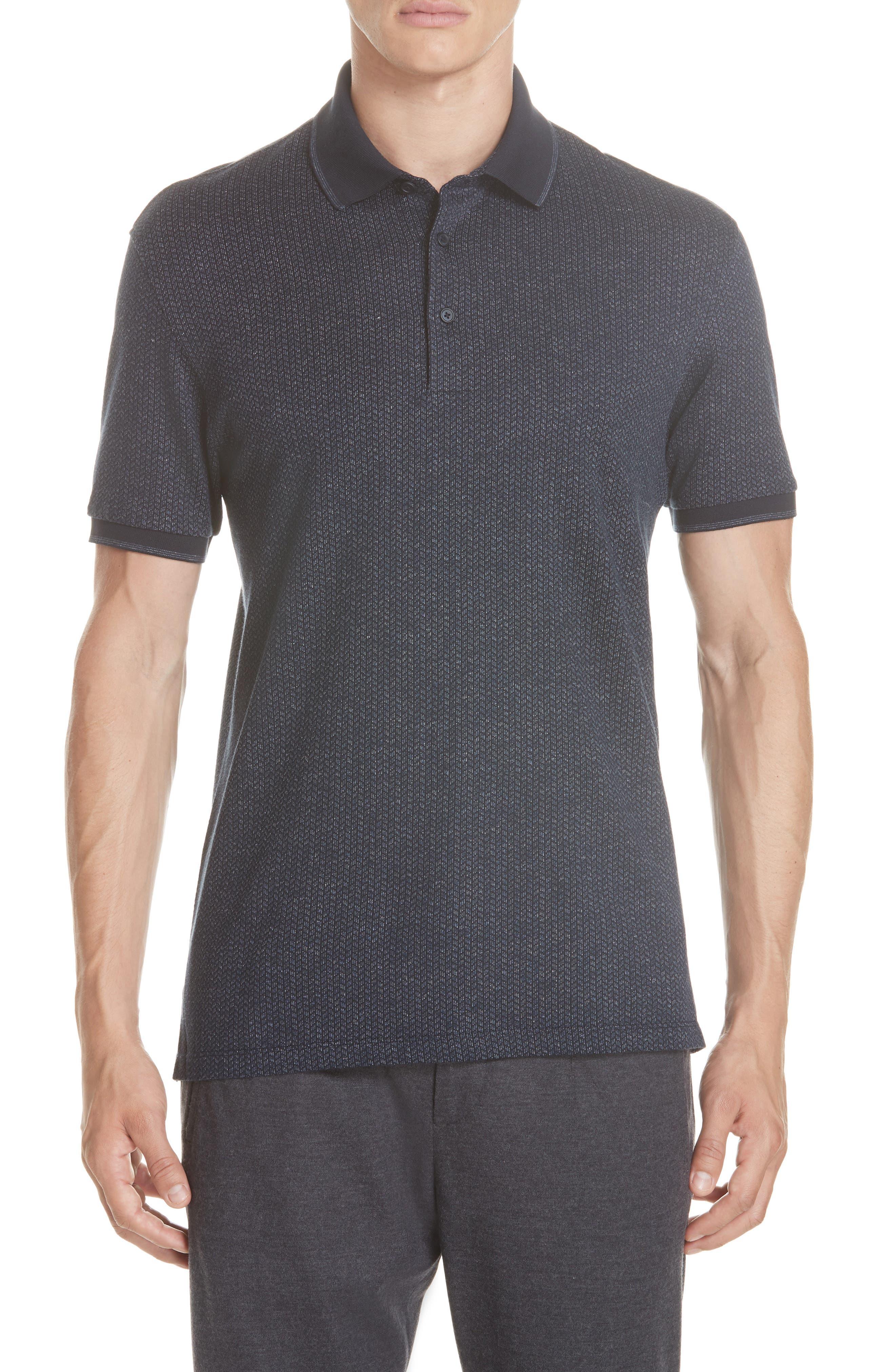 Cotton Polo Shirt,                             Main thumbnail 1, color,                             NAVY