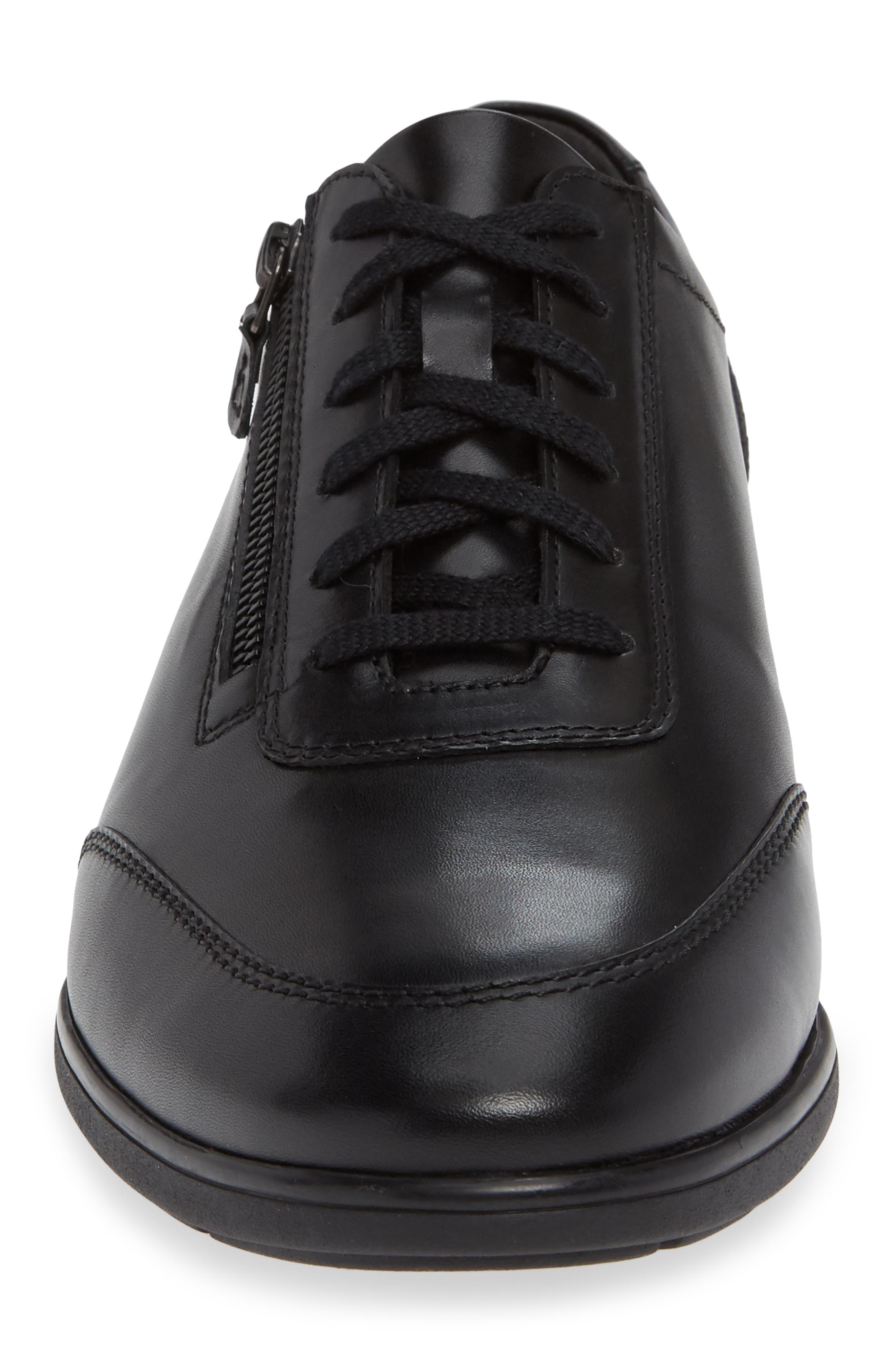 Laurent Zippered Low Top Sneaker,                             Alternate thumbnail 4, color,                             001