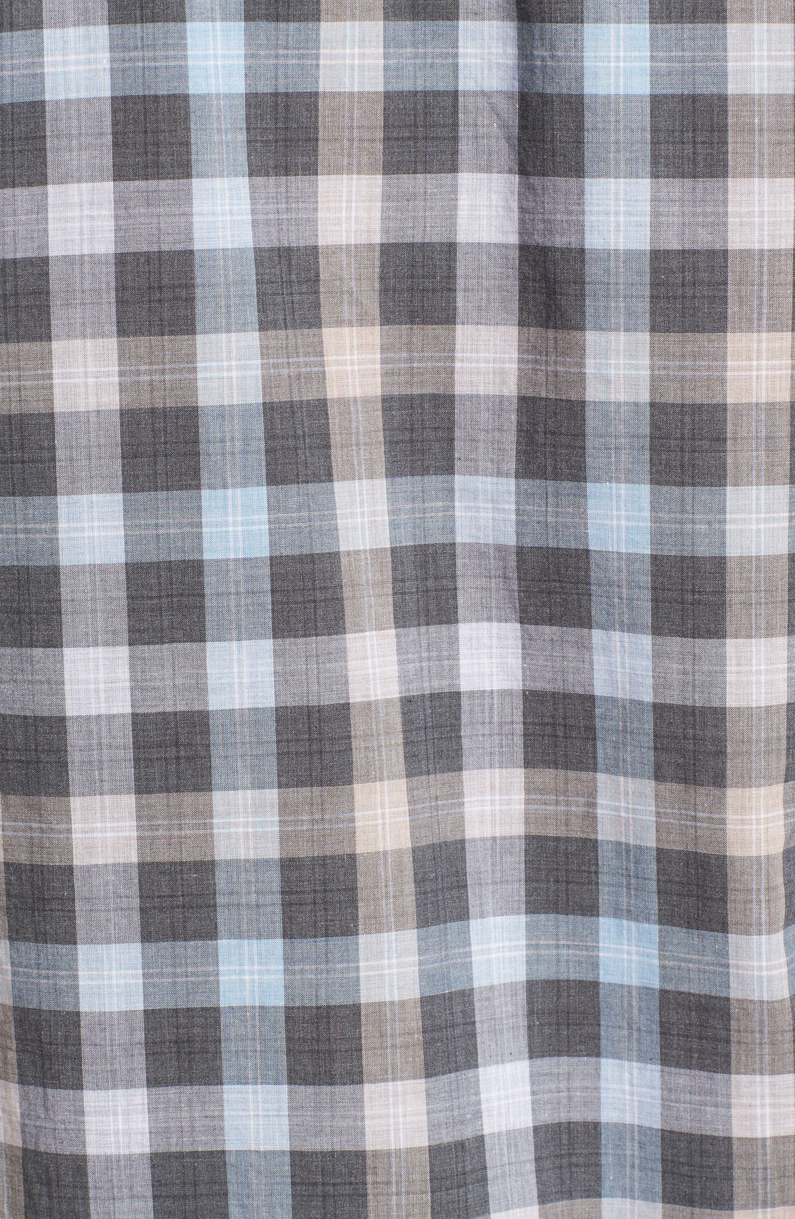 John T Standard Fit Check Sport Shirt,                             Alternate thumbnail 5, color,                             400