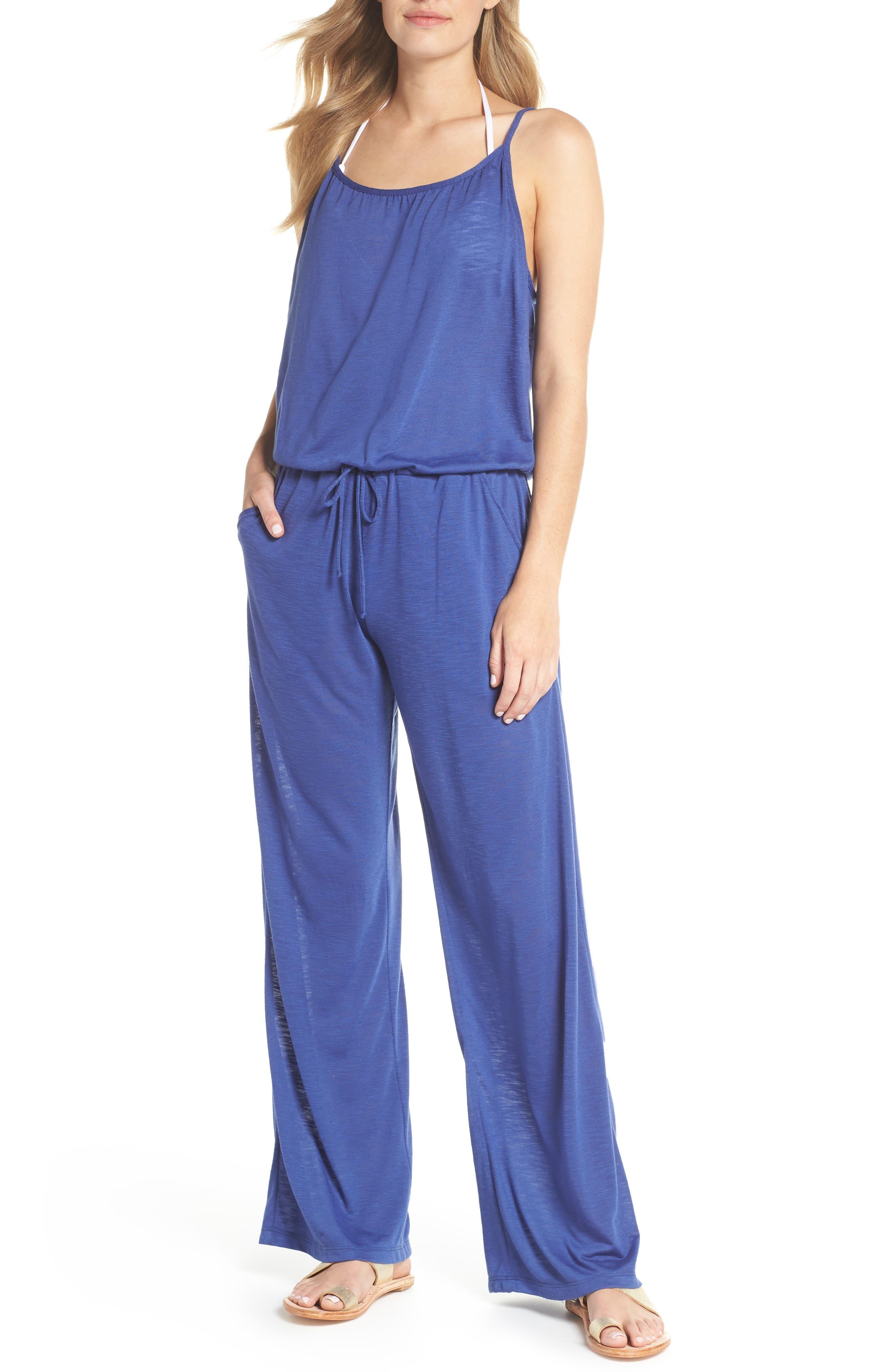 5ab7e707f5f8a Becca Breezy Basics Jumpsuit In Blue Topaz